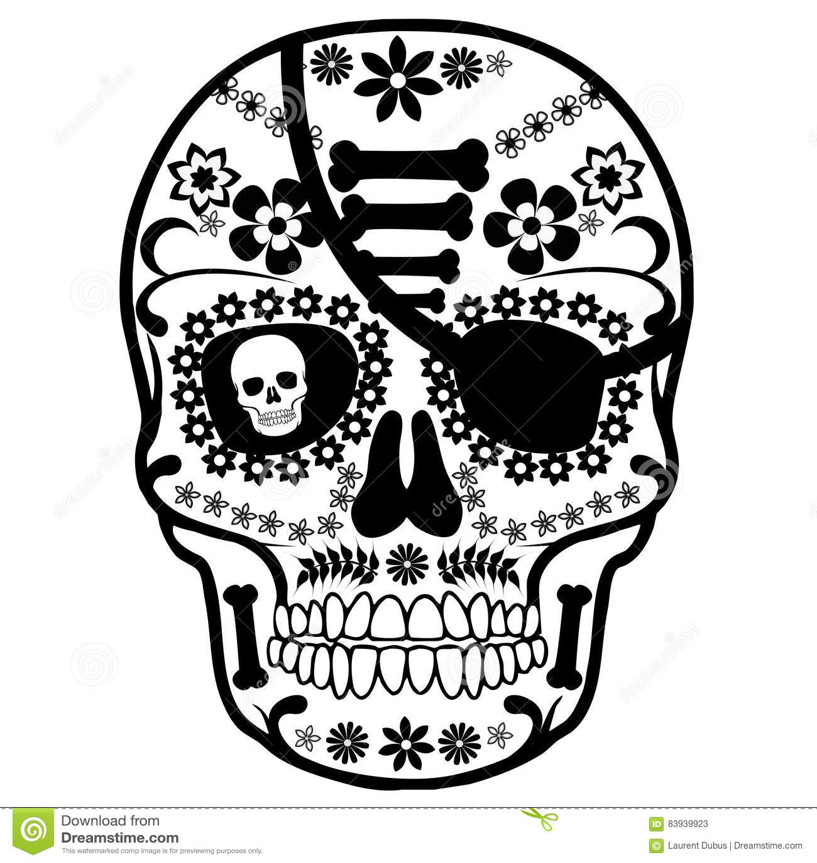 Schädel-Mexikanerpirat