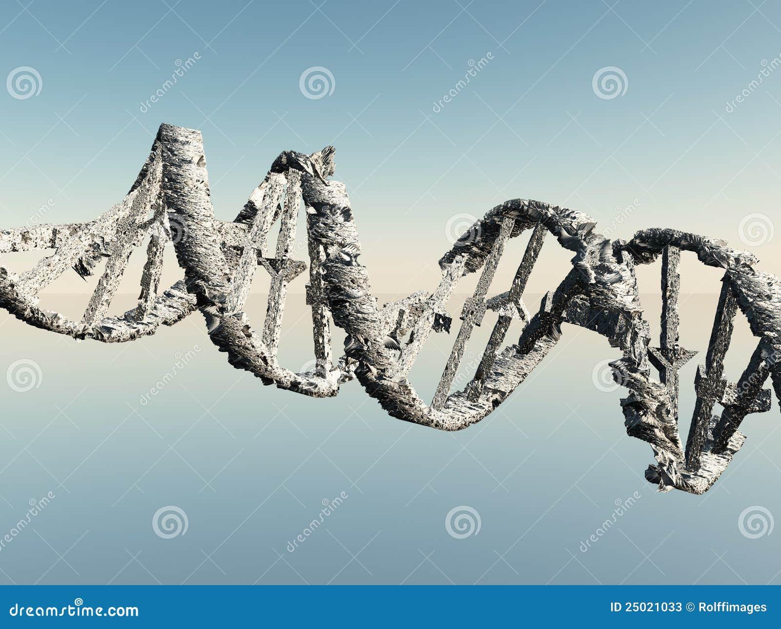 Schädigende DNA-Stränge stock abbildung. Bild von zerbrechlich ...