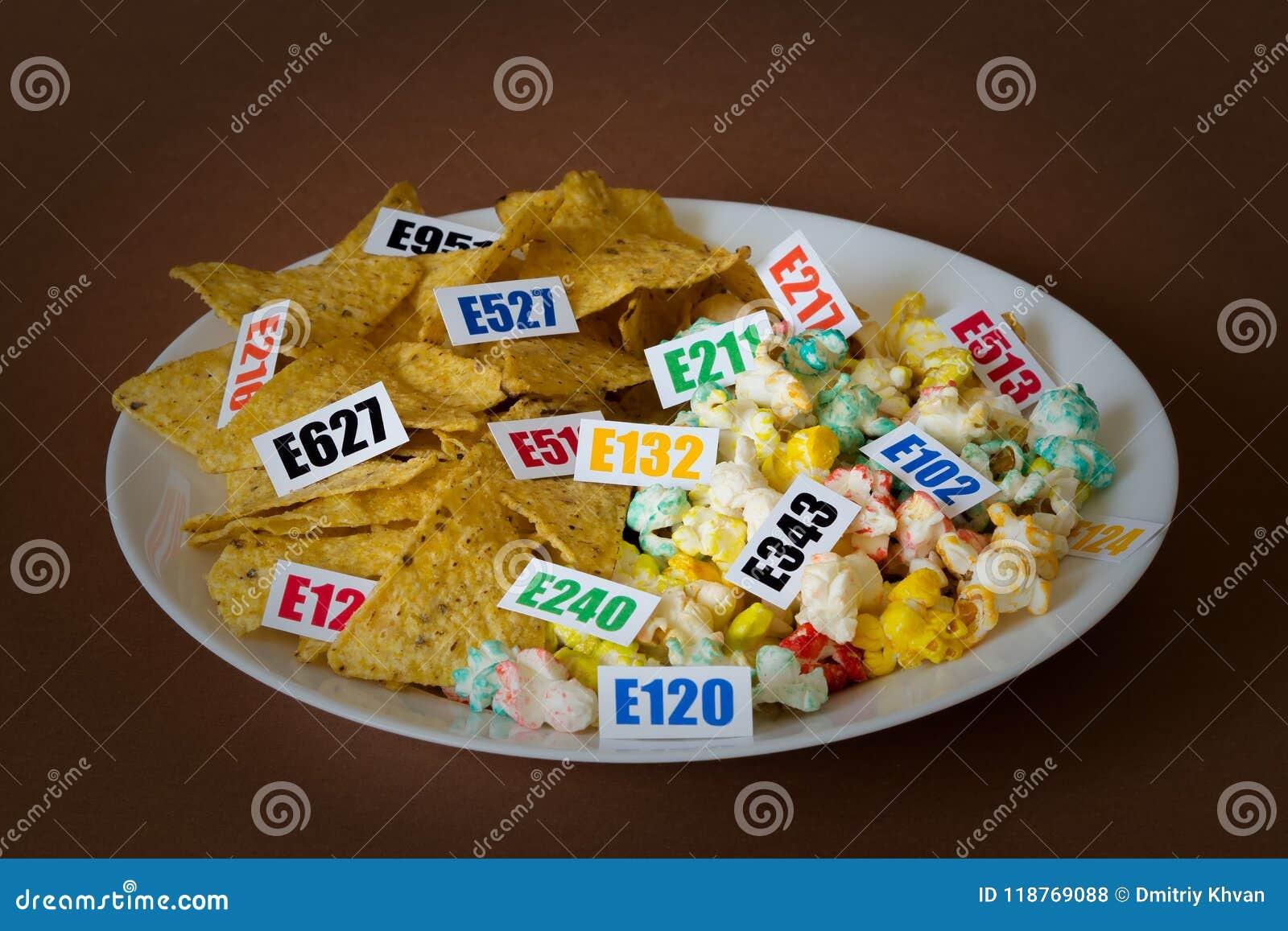 Schädliche Lebensmittelzusatzstoffe