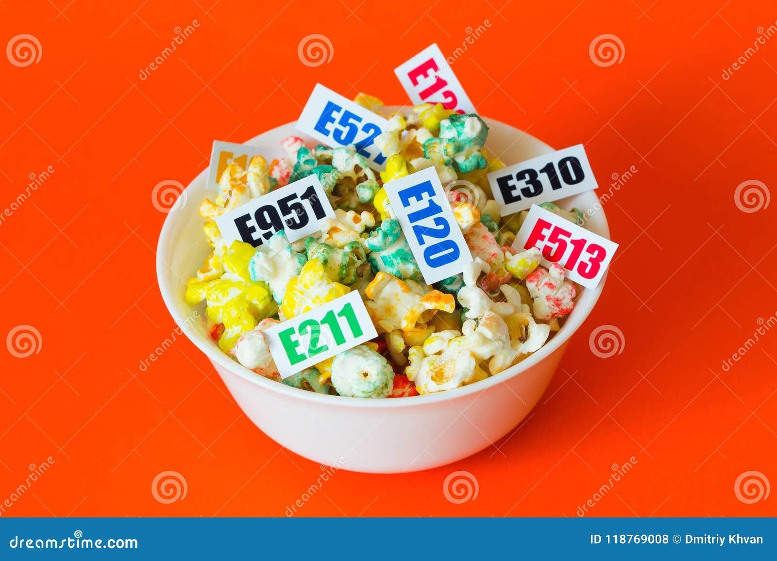 Schädliche Lebensmittelzusatzstoffe Es gibt einige Tabellen mit dem Code E