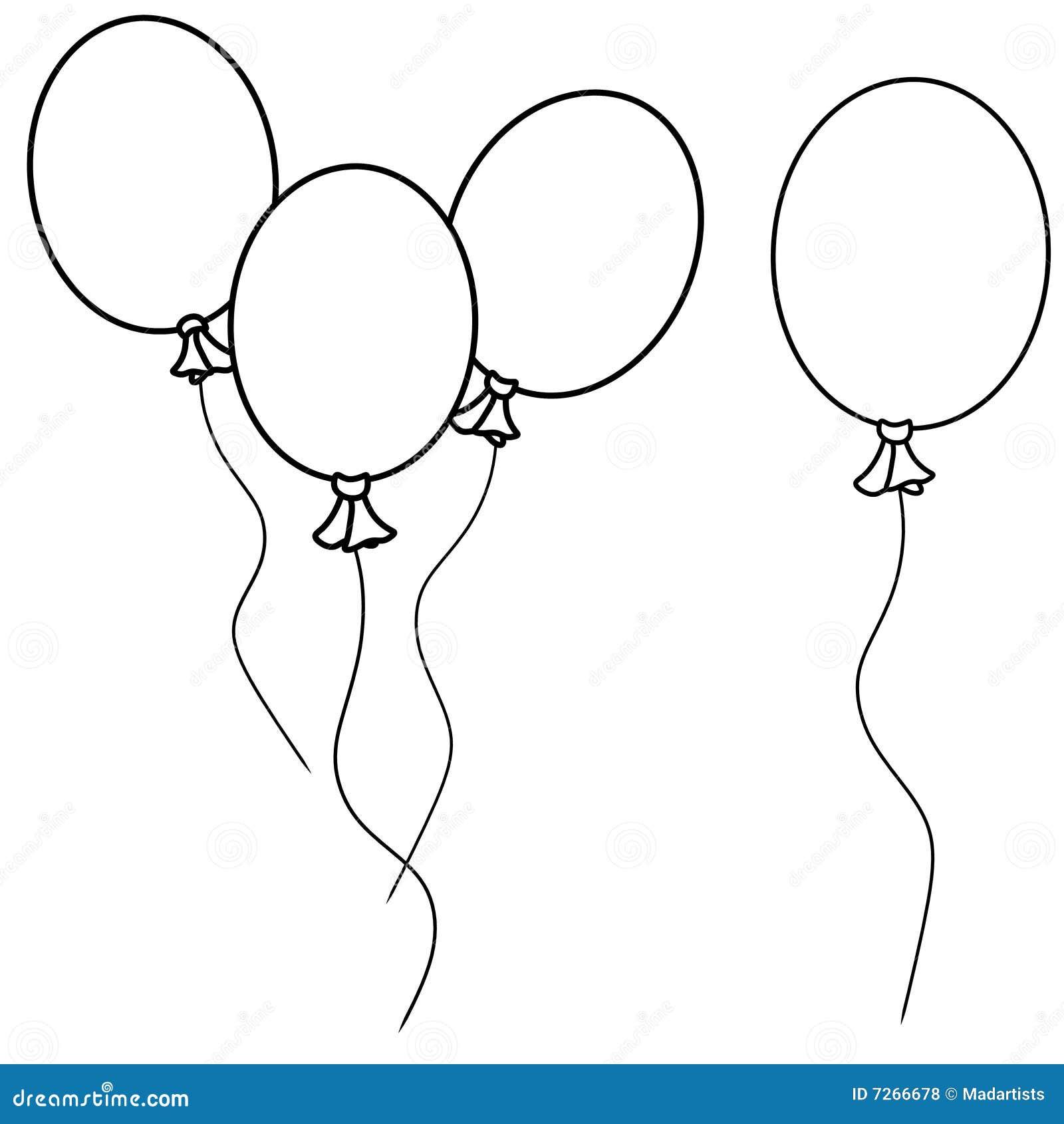 Sch ma simple ballons illustration stock illustration du - Dessin de ballon ...