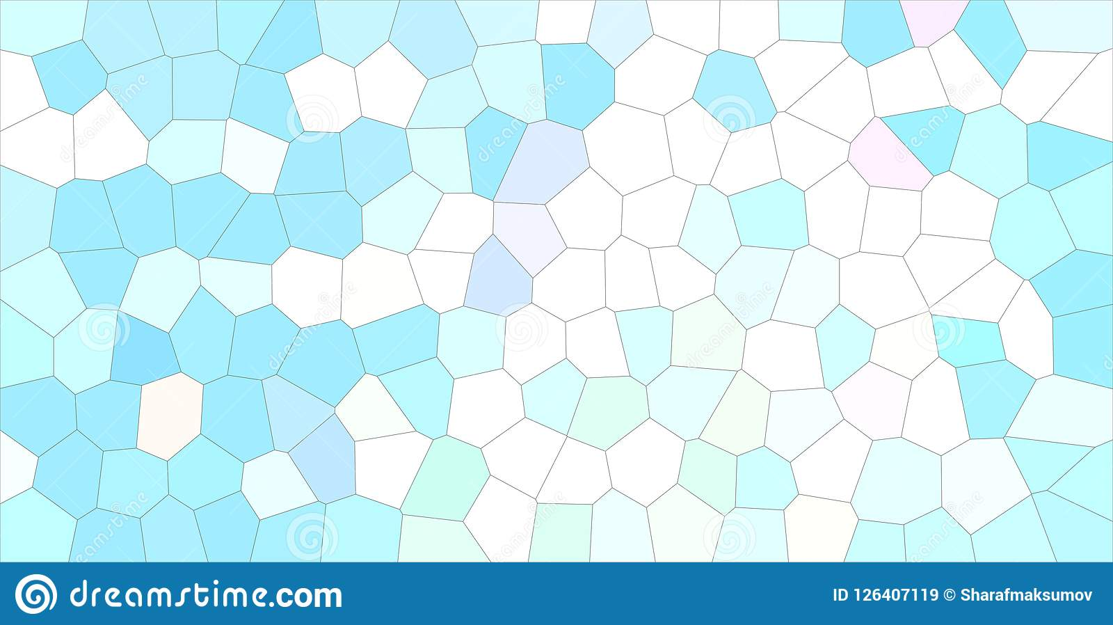 Schöne abstrakte Illustration des Blau-, Grünem und weißemmittleren Größenhexagons Guter Hintergrund für Ihr Projekt