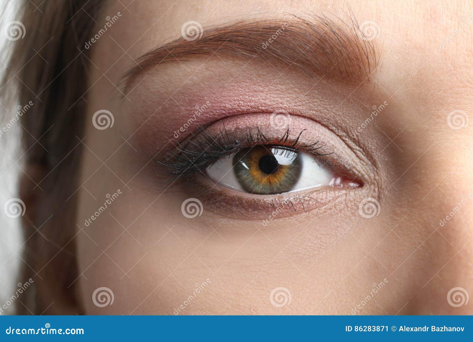 Schöne Augen Retro Art Make Up Stockbild Bild Von Braun