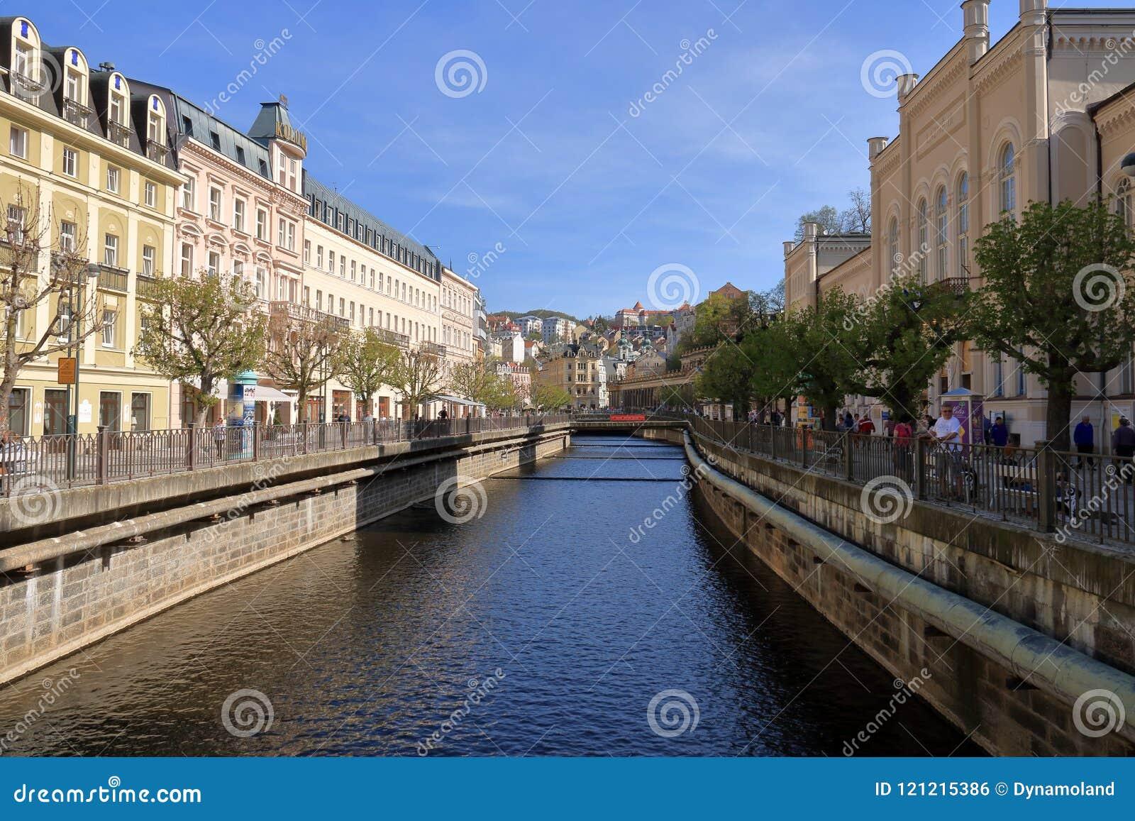 Schöne Badekurort-Stadt Karlovy Vary