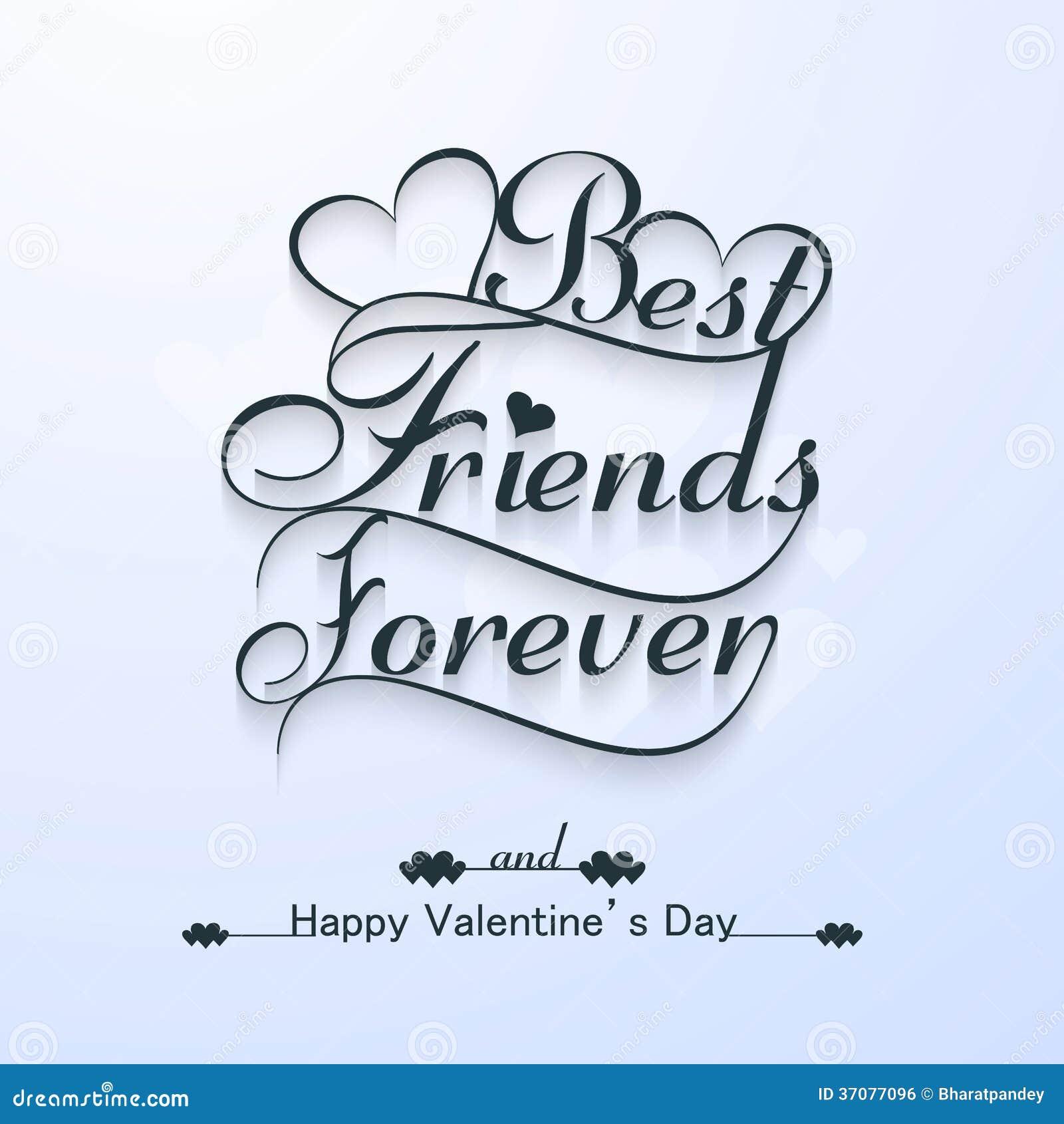 Schone Beste Freunde Fur Immer Fur Den Glucklichen Valentinstag