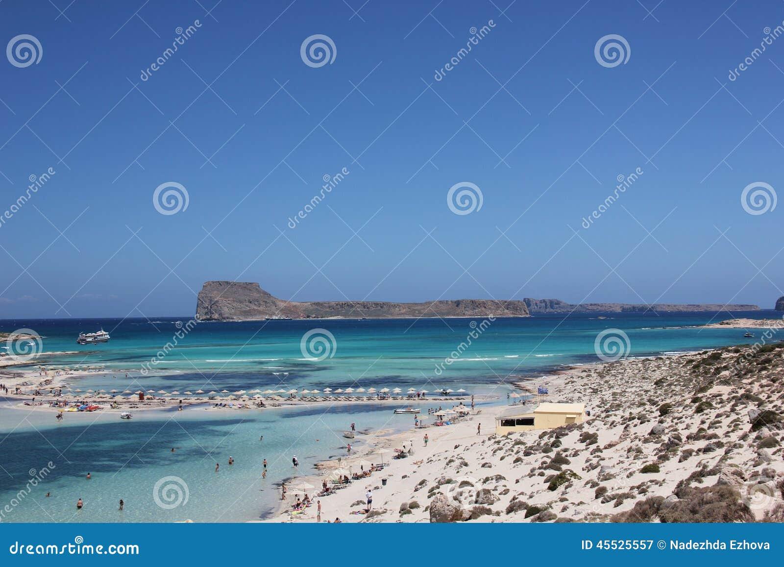 Schöne Bucht von Balos in Kreta