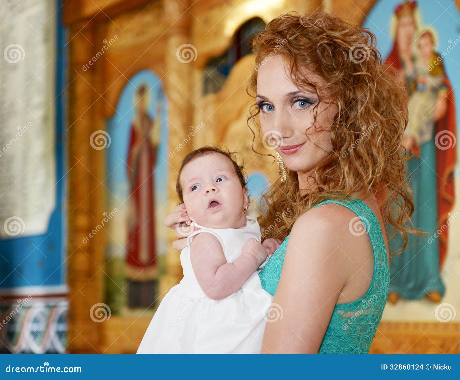 Schöne christliche Familie