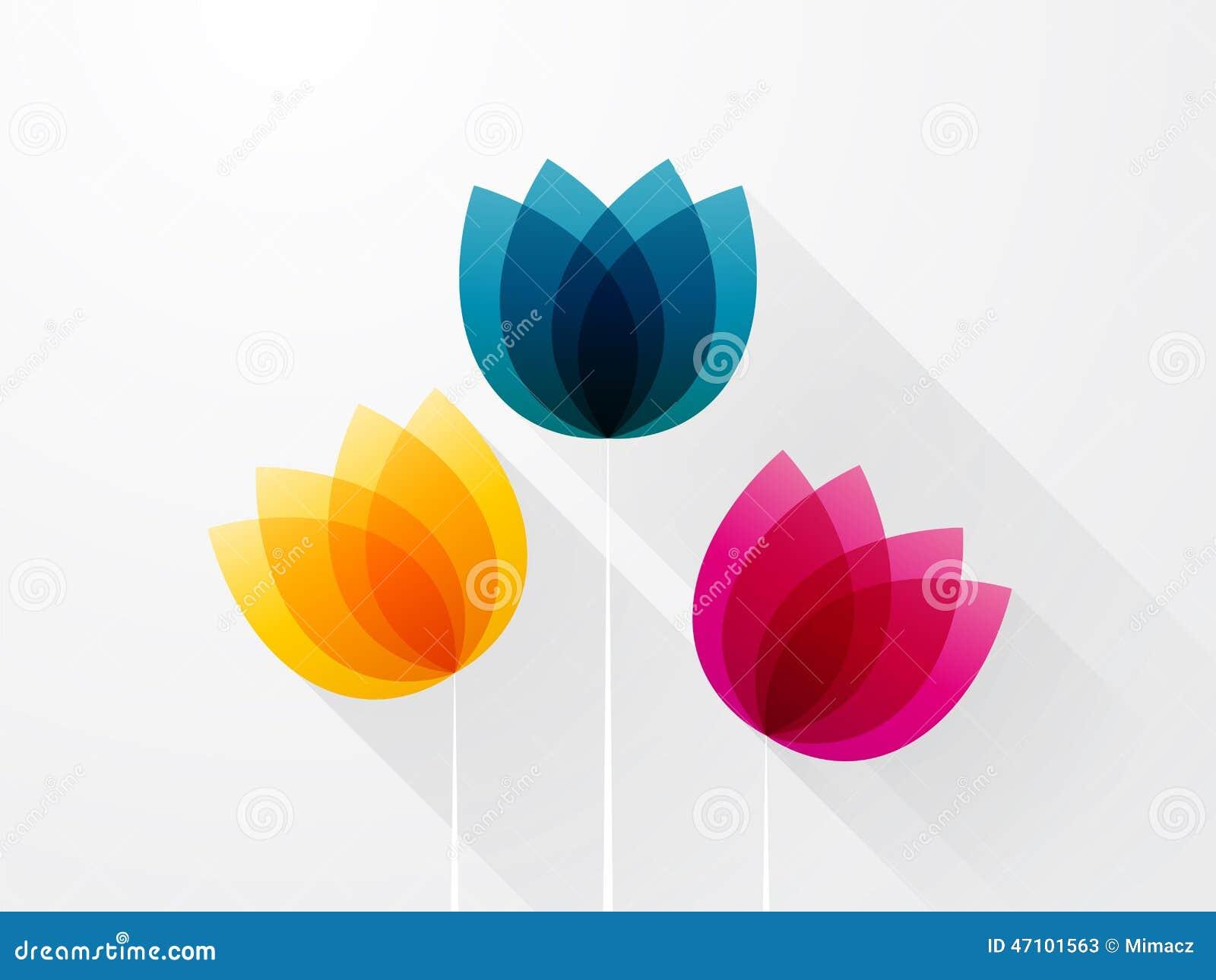 Schöne farbige Blumen