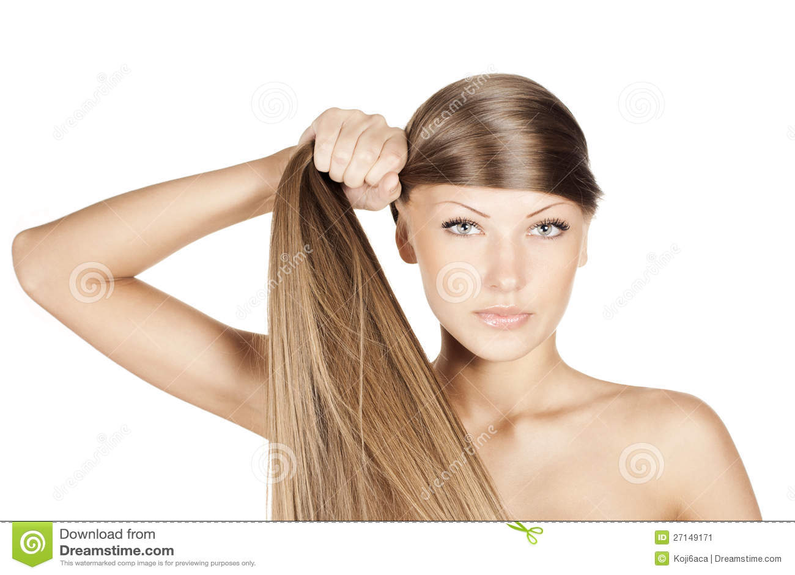 Schone Frau Langes Haar Stockbild Bild Von Sauber Haarschnitt