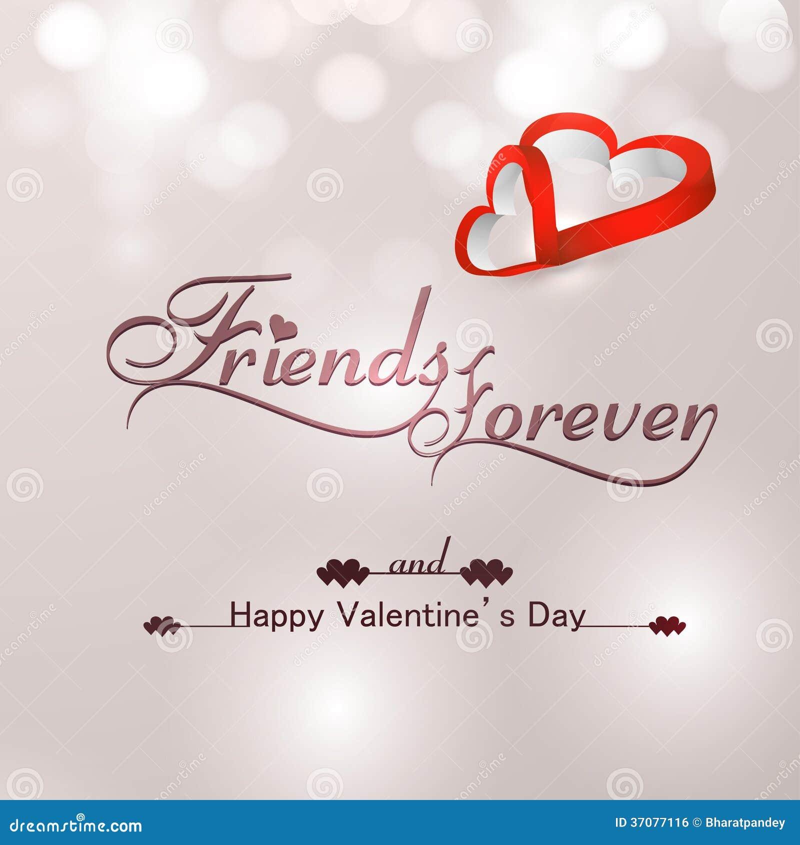 Schone Freunde Fur Immer Fur Gluckliches Valentinstagherz Stock