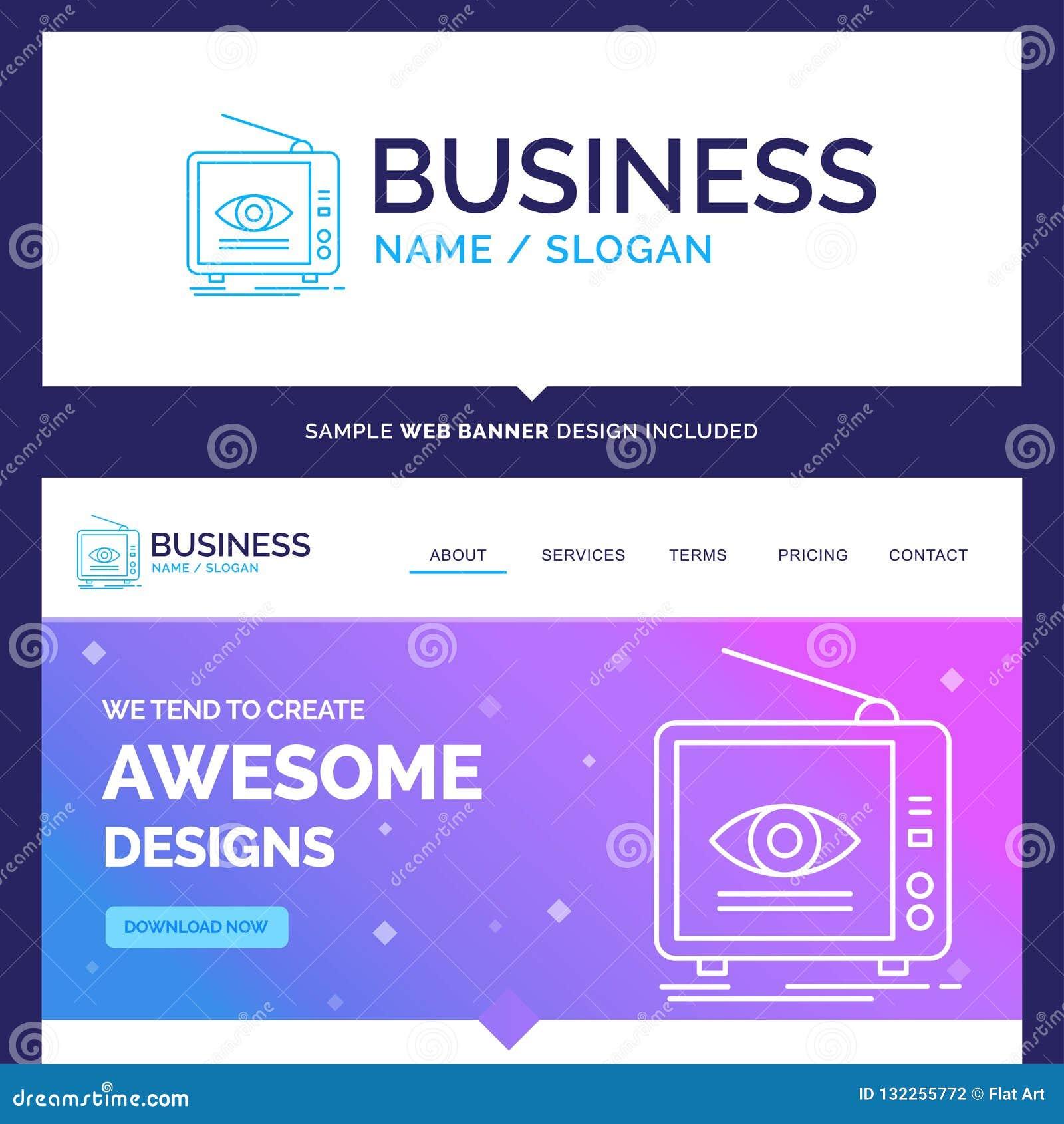 Schöne Geschäfts-Konzept-Markenname-Anzeige, Sendung, Marketing