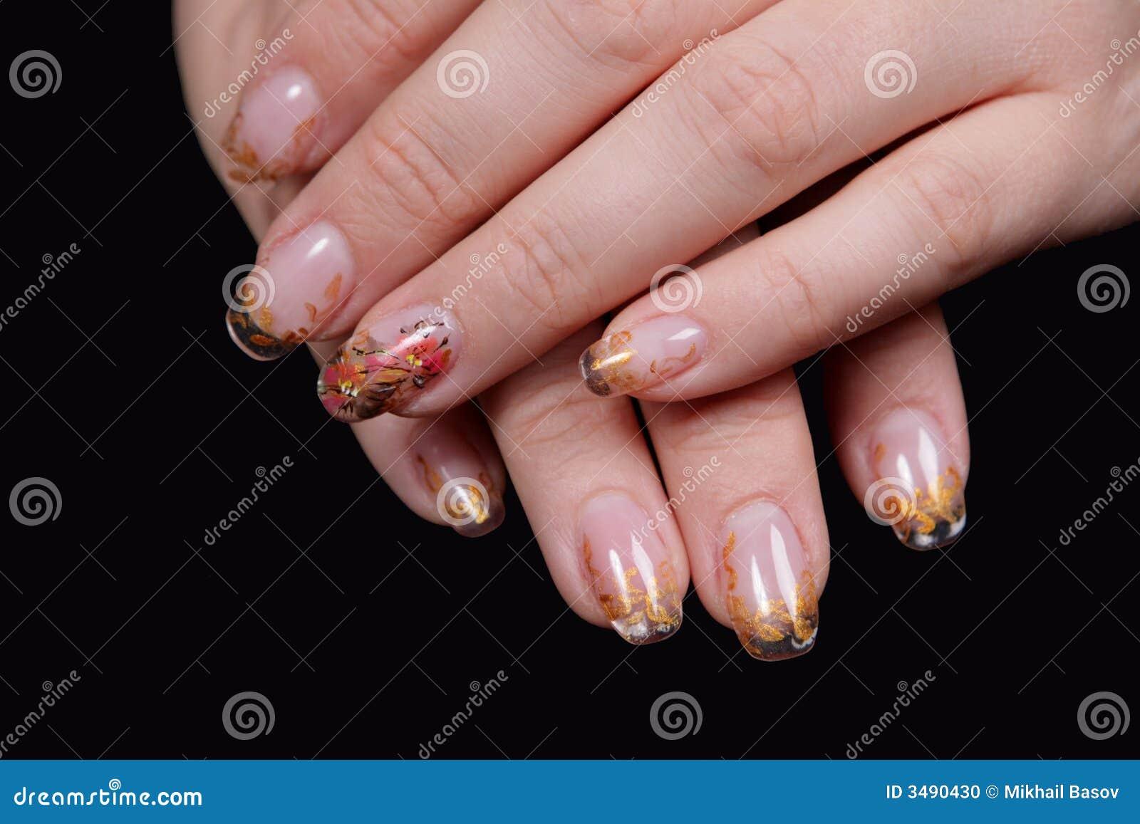 Schöne Hände, Die Nägel Zeigen Stockfoto - Bild von pinsel, maniküre ...