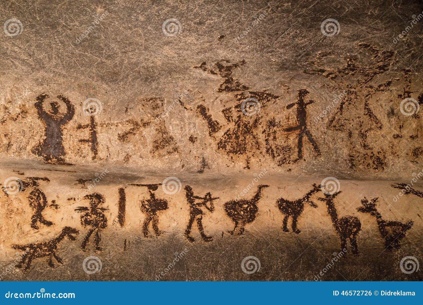 Schöne Höhlenzeichnungen
