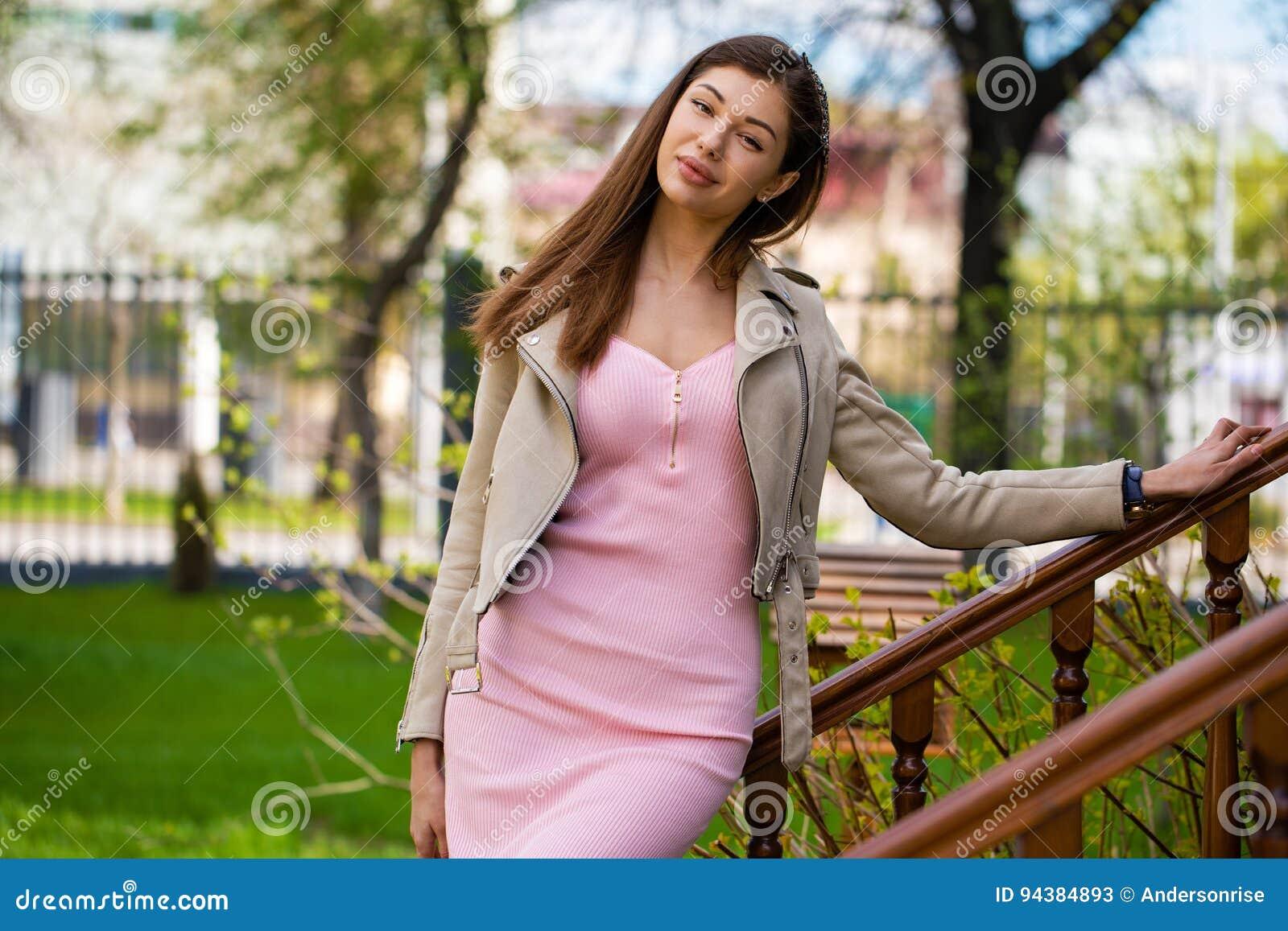 Jacke rosa kleid