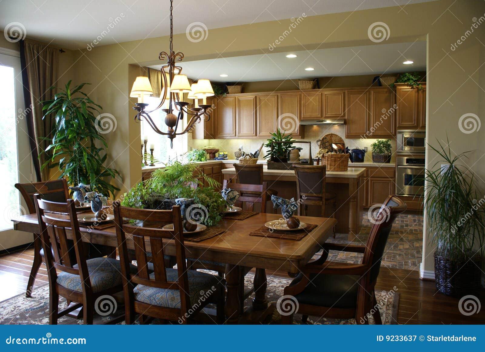 sch ne k che und esszimmer lizenzfreie stockfotografie bild 9233637. Black Bedroom Furniture Sets. Home Design Ideas
