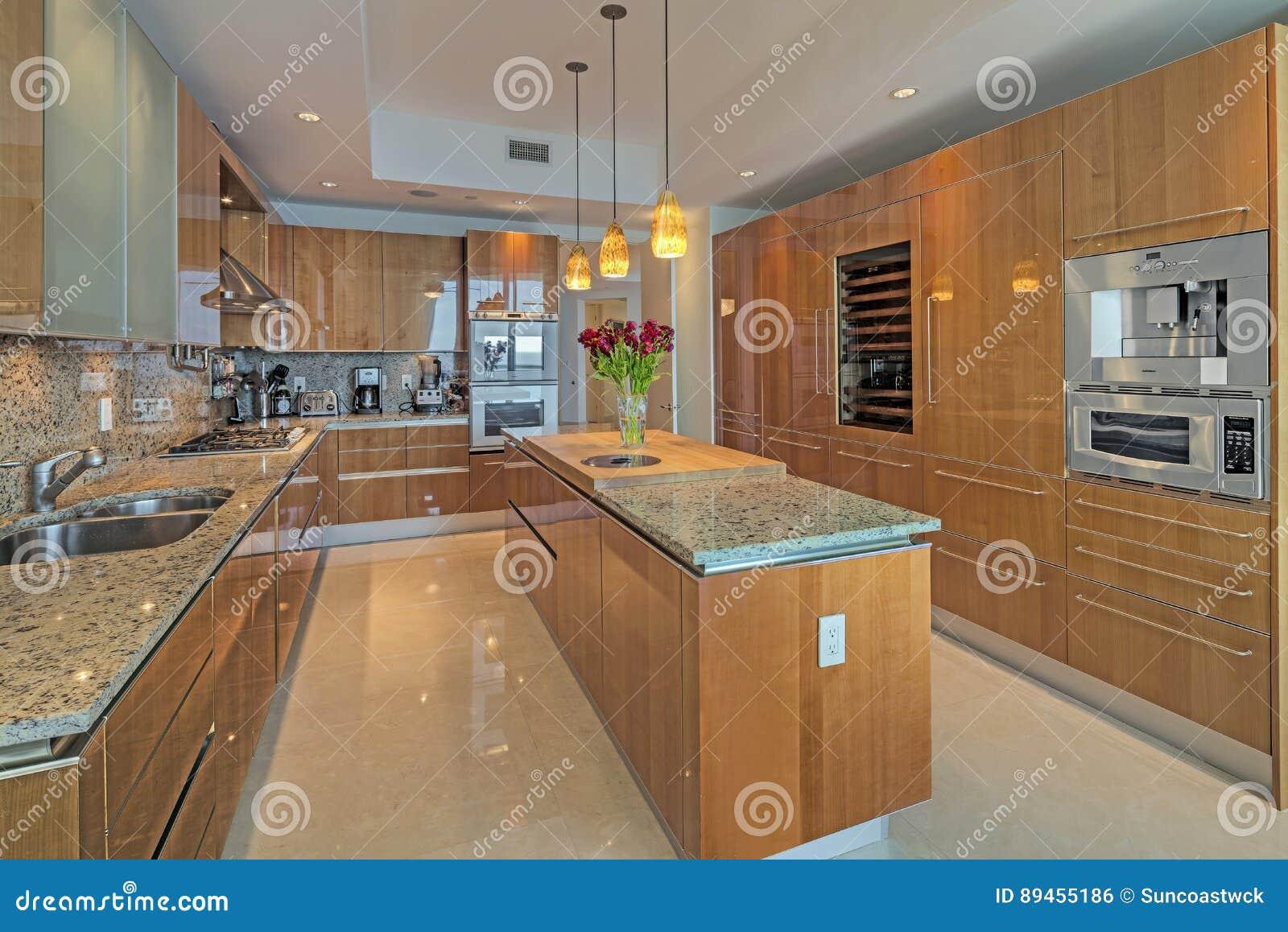 Schöne Küchen Sind Eine Chef Freude Stockfoto Bild Von Freude