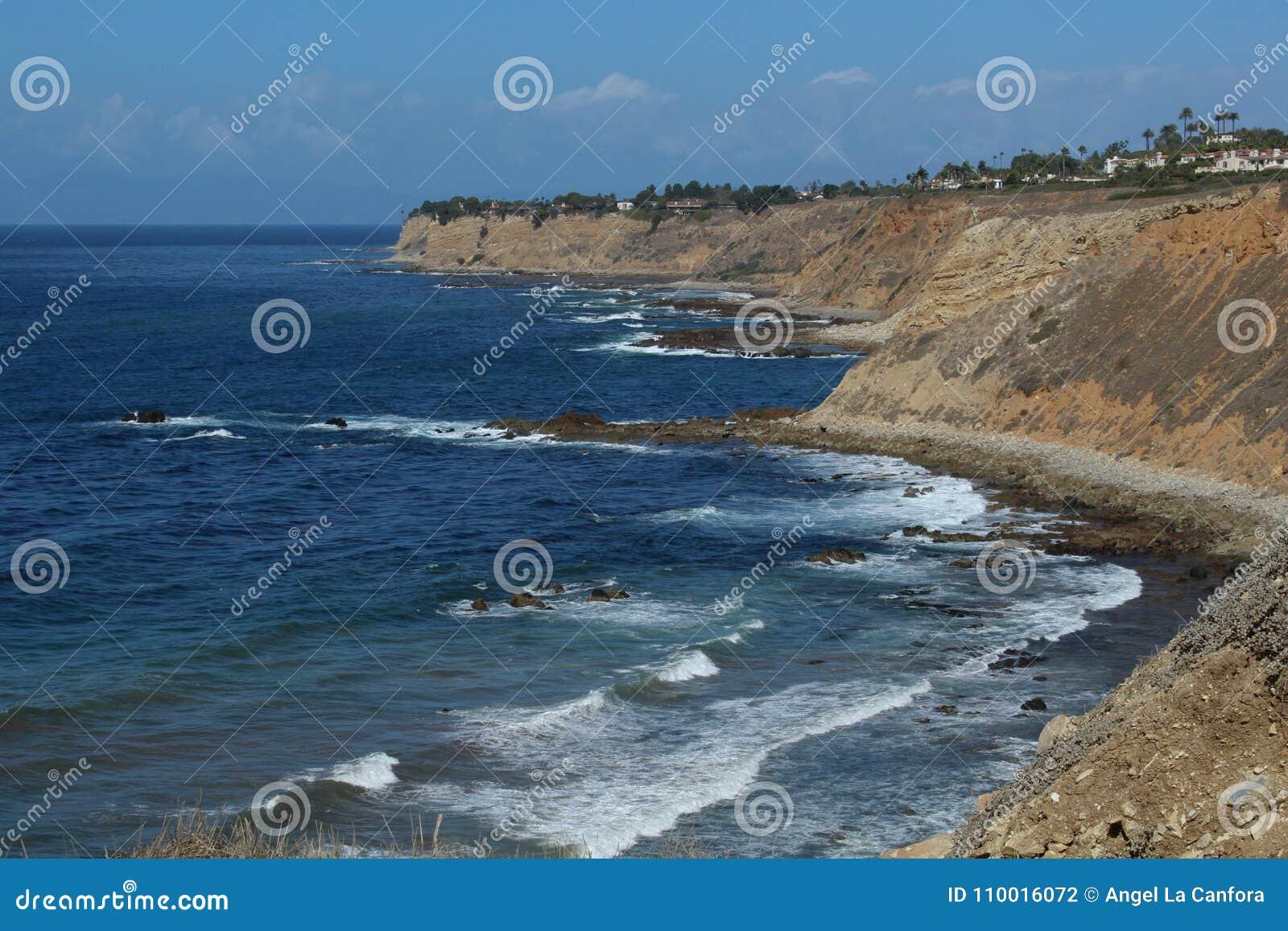 Schöne Landschaft der Palos Verdes Peninsula-Küste in Los Angeles, Kalifornien