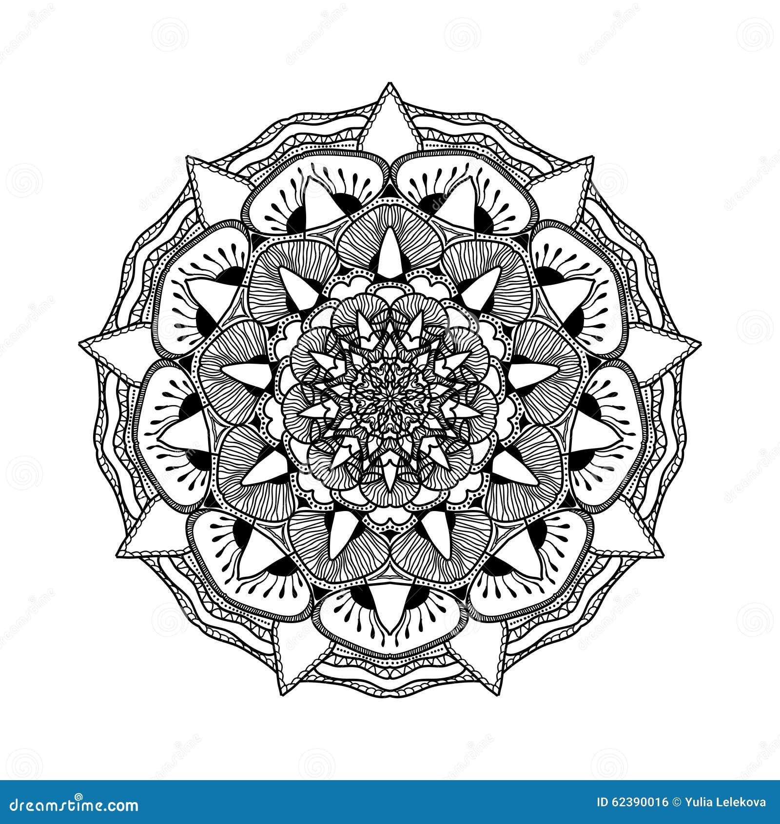sch ne mandala des vektors schwarzweiss muster f r design und malerei vektor abbildung. Black Bedroom Furniture Sets. Home Design Ideas