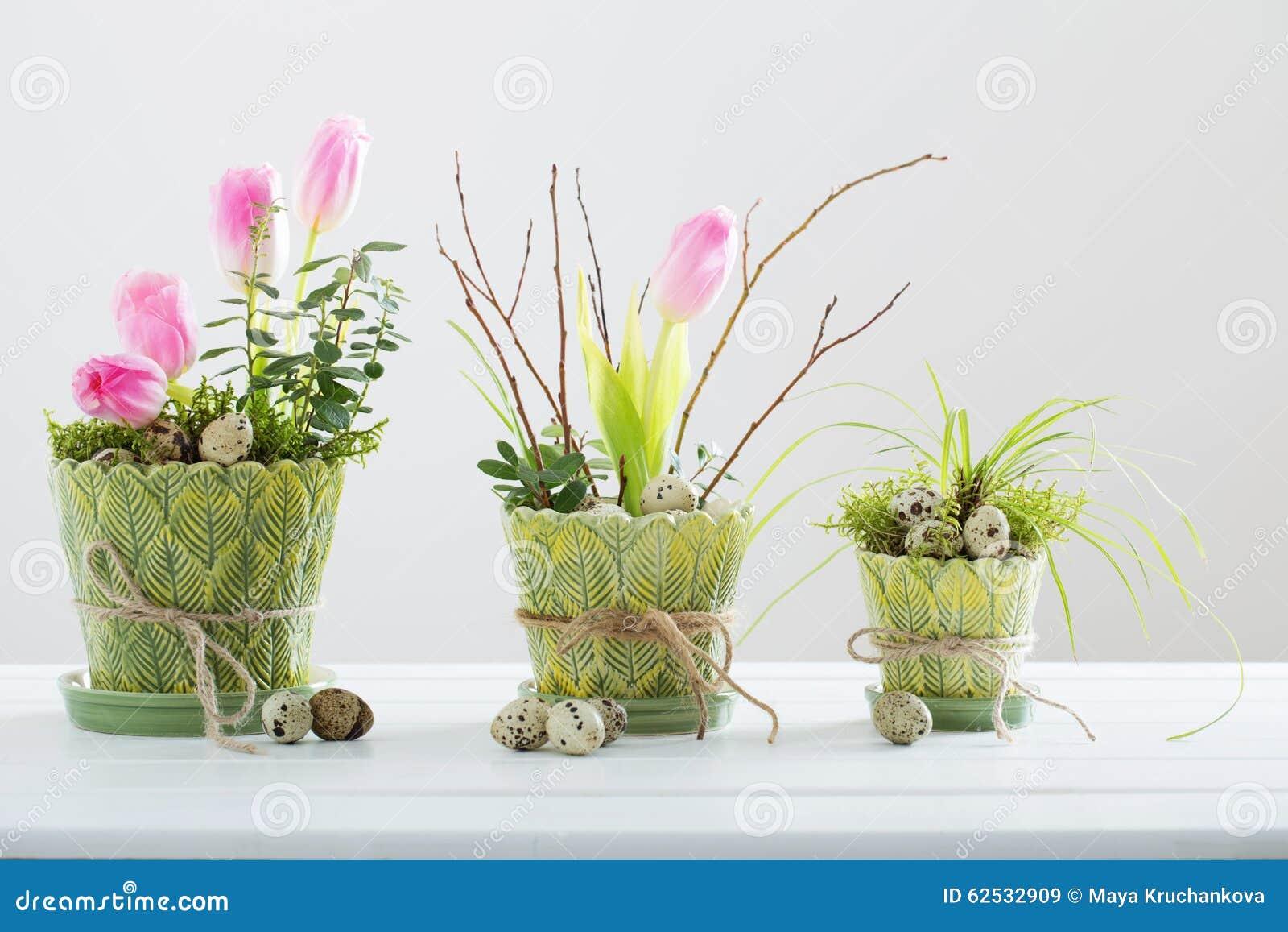 Sch Ne Ostern Dekoration Stockbild Bild Von Frisch