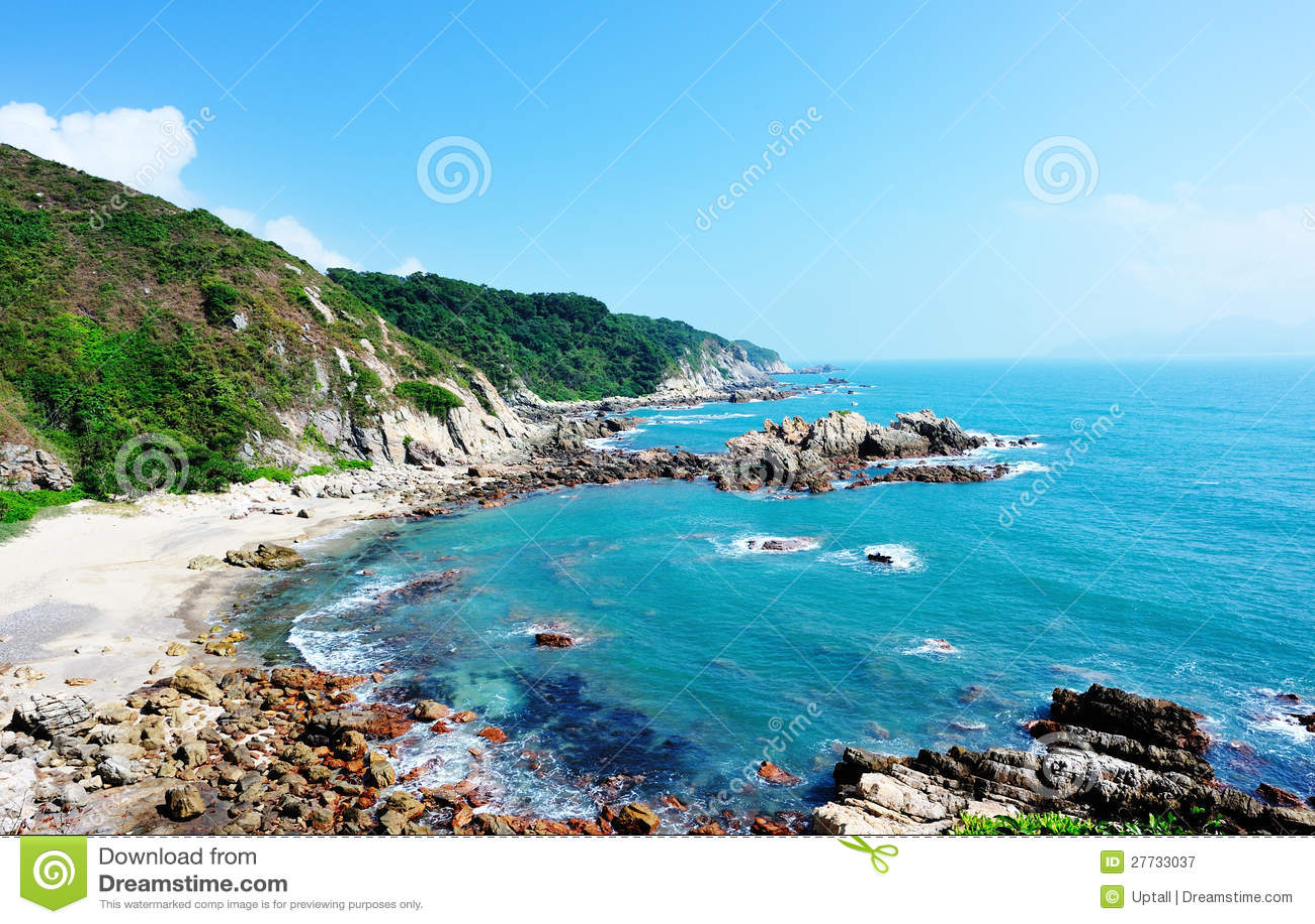 Schöne Seeküstelandschaft