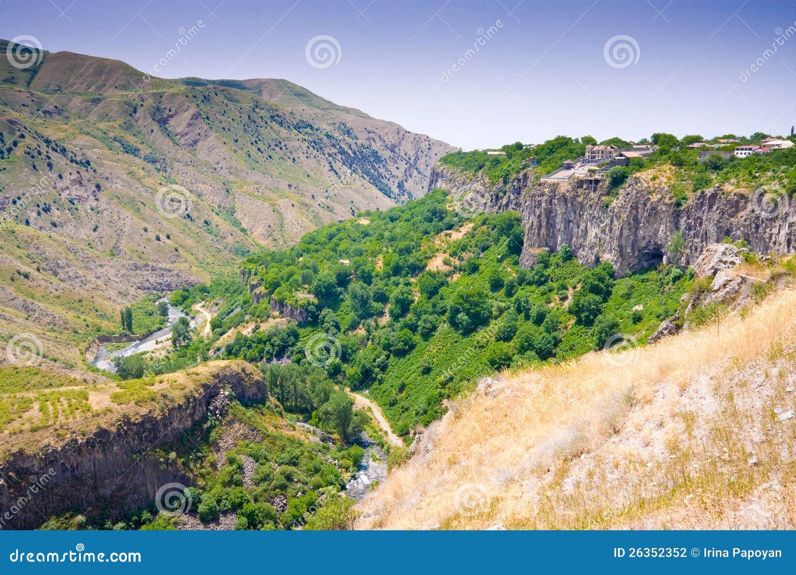 Schöne Sommerlandschaft, in Garni, Armenien