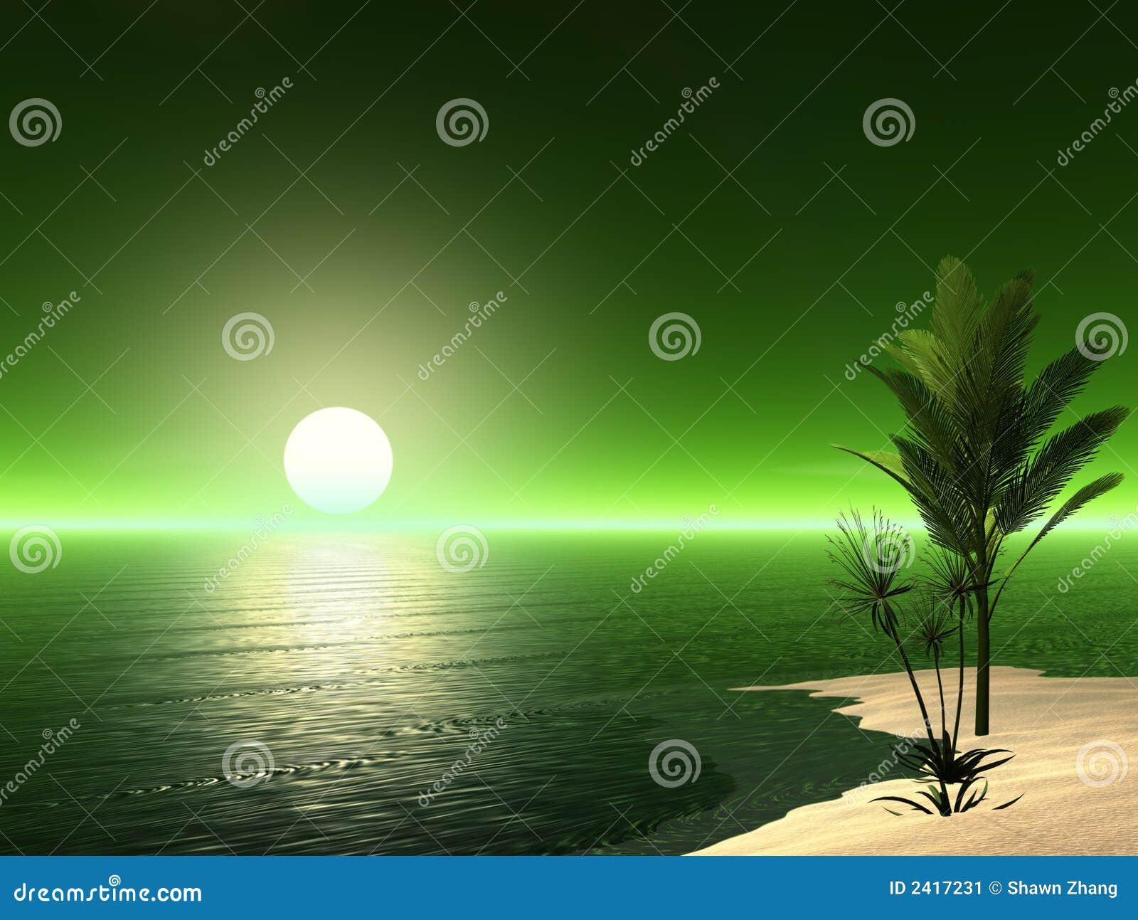 Schöne tropische Szene