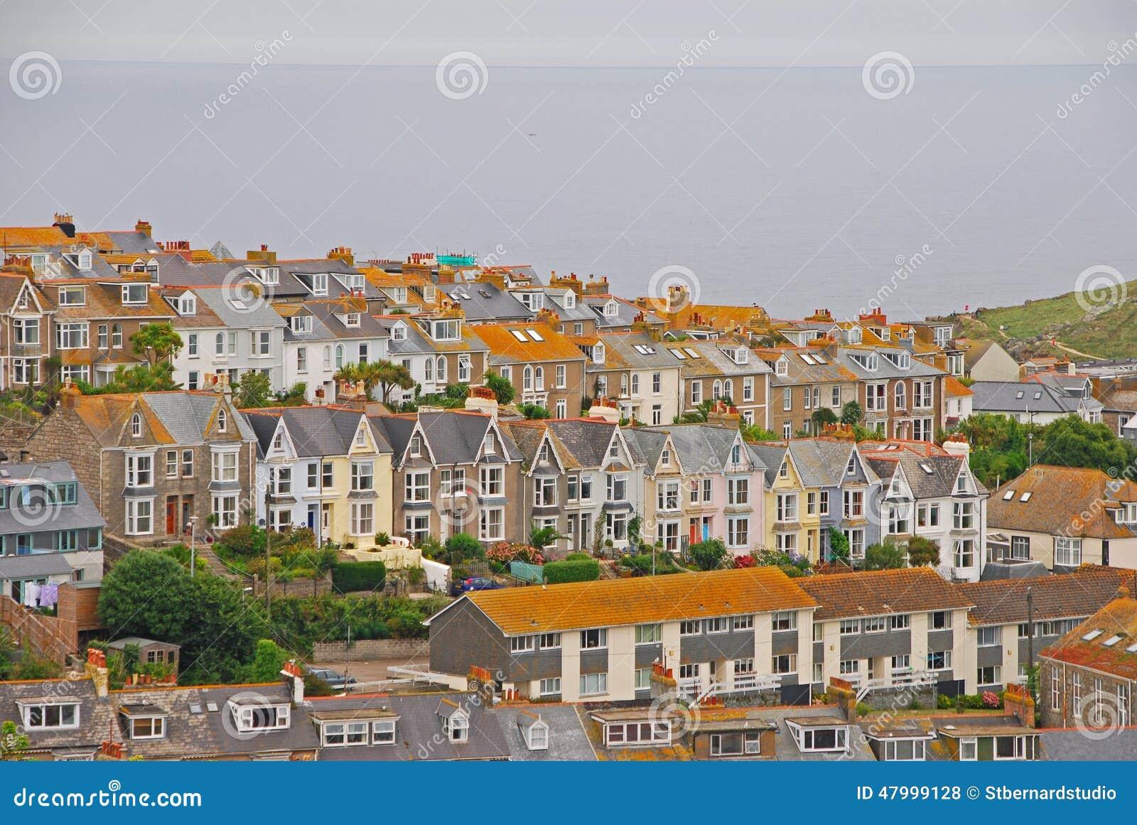 Schöne und einzigartige Architektur von Häusern in St. Ives Cornwall