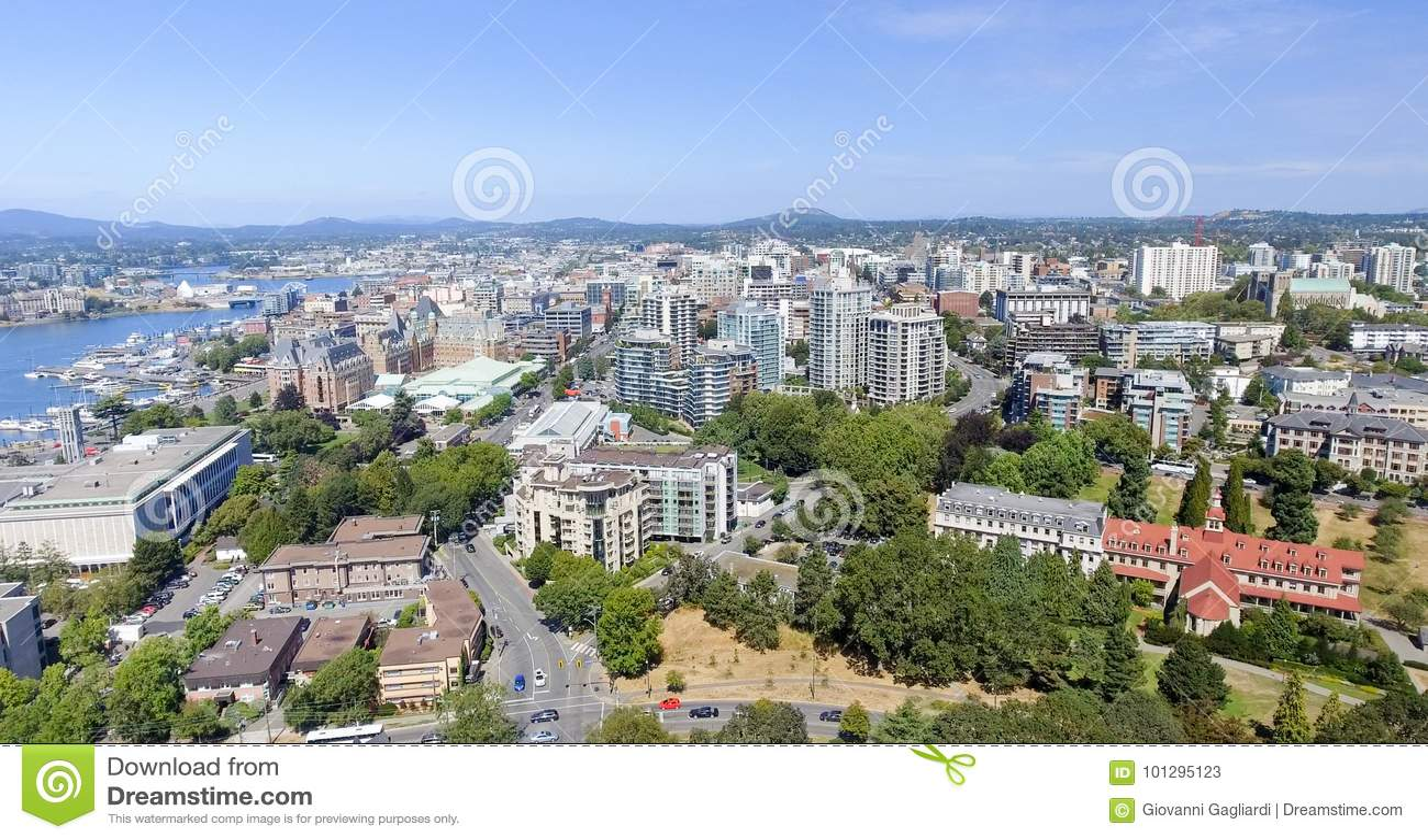 Schöne Vogelperspektive von Victoria, Vancouver Island