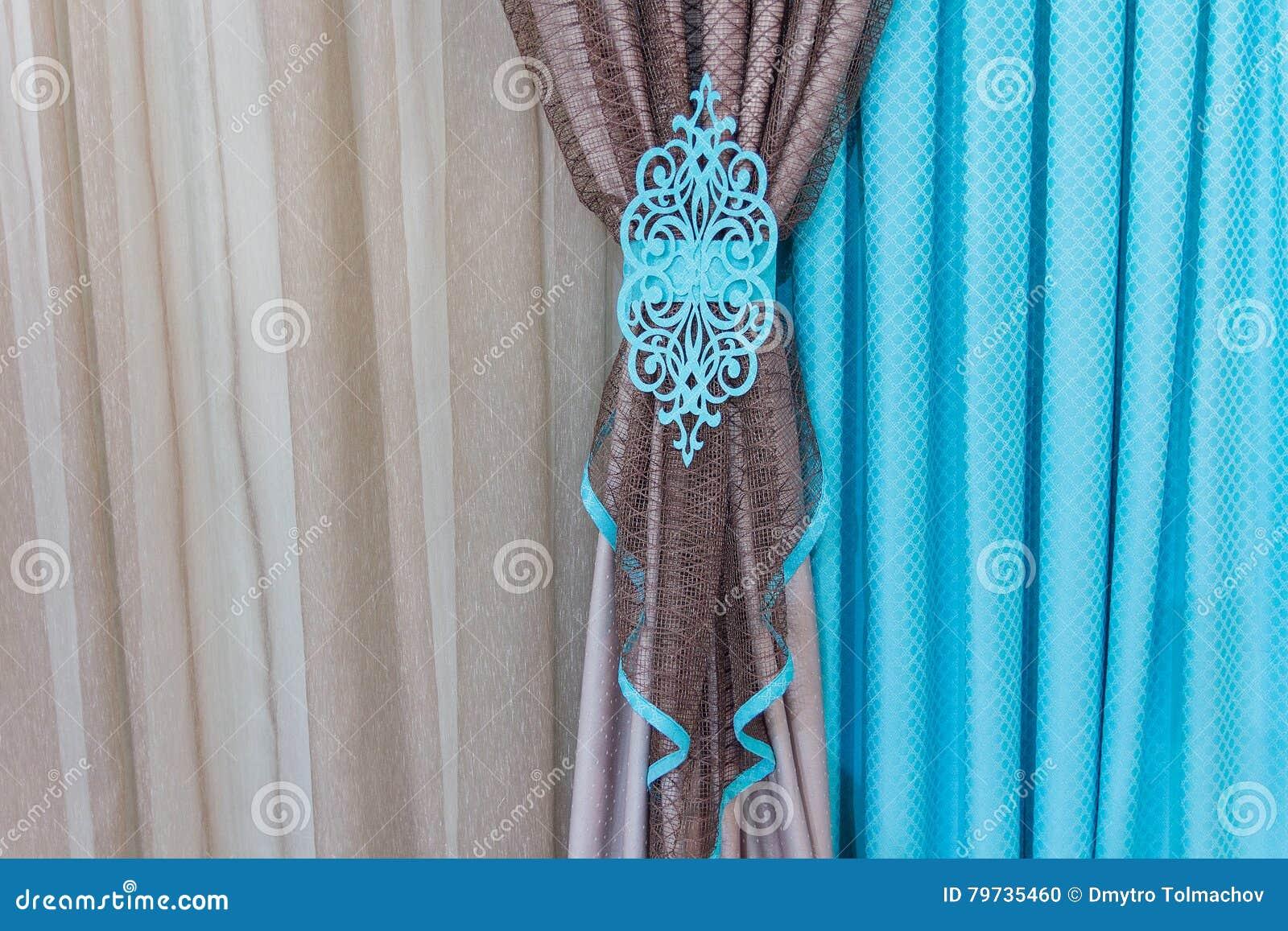 Schöne Vorhänge In Der Orientalischen Art Stockfoto Bild Von