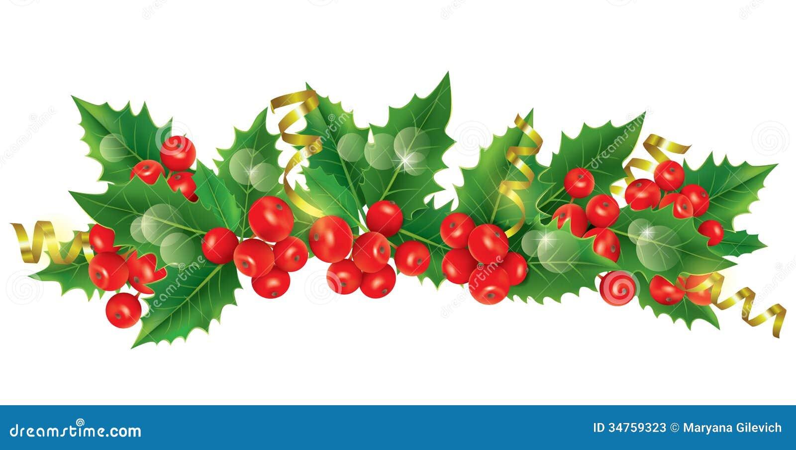 Schöne Weihnachtsgirlande Stockfotos - Bild: 34759323