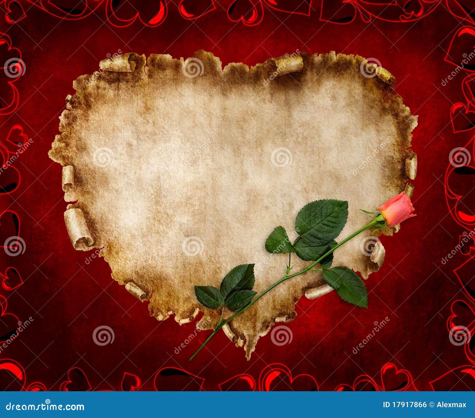 Schöne Weinlese-stilisiert Valentinsgruß-Karte