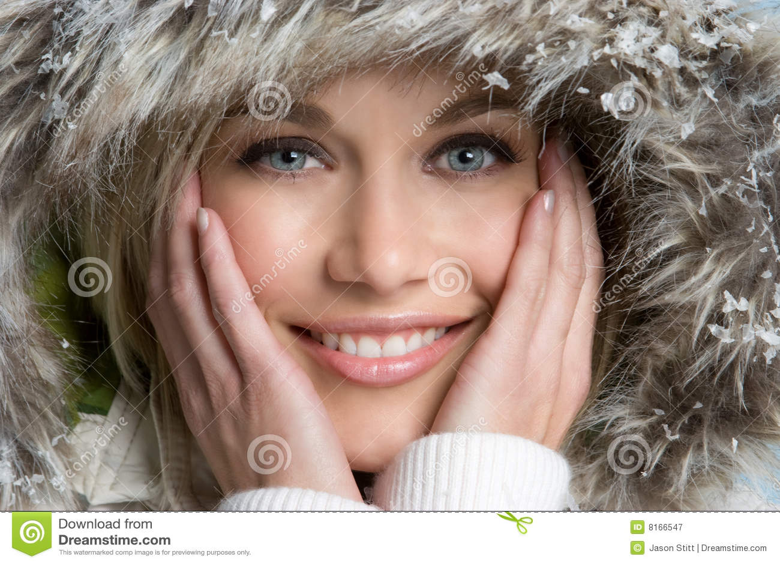 Schöne Winter-Frau