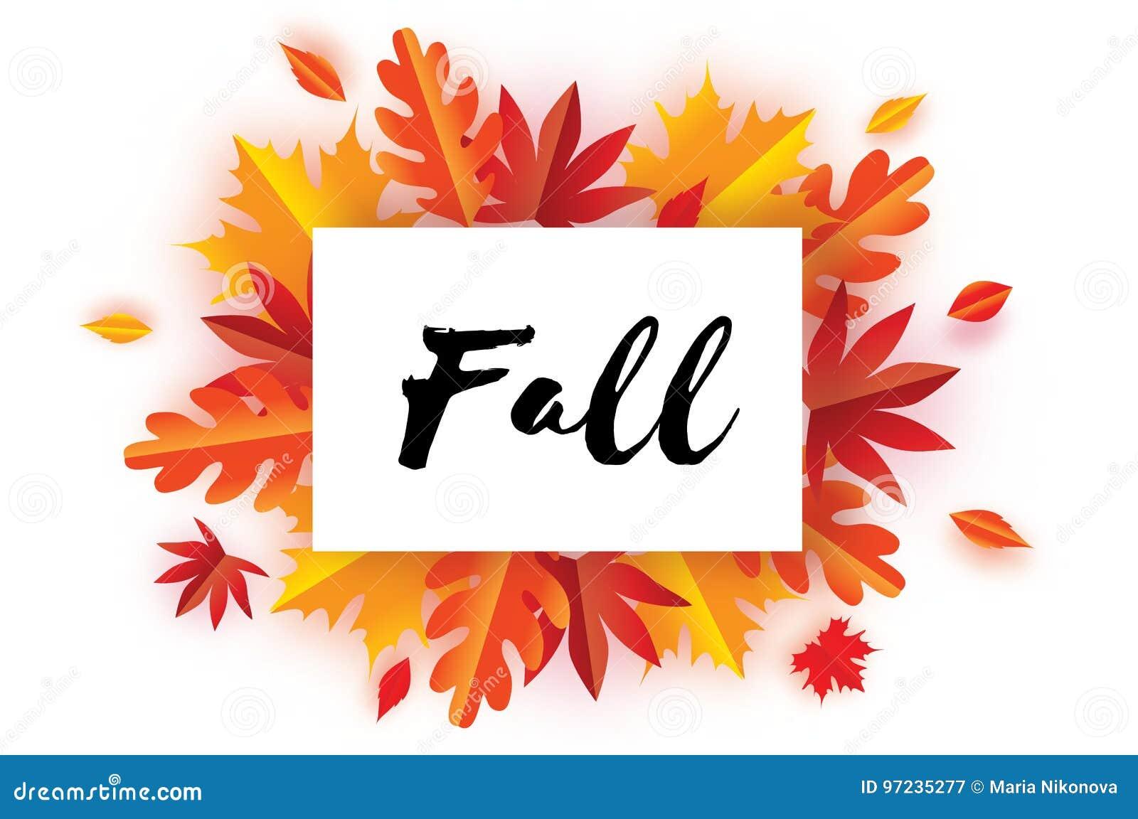 Schöner Autumn Fall Paper Cut Leaves Hallo Herbst September ...