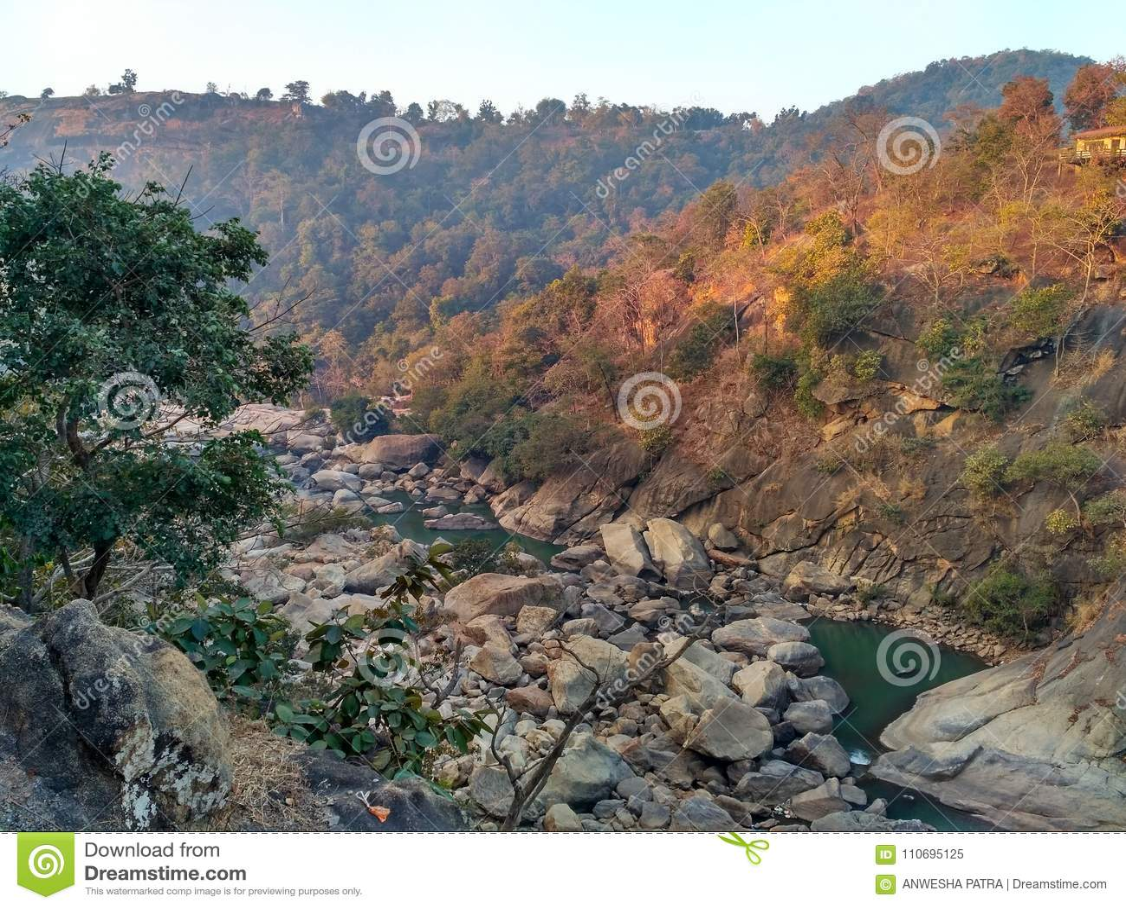 Schöner Bergblick von Dassam, Ranchi, Indien