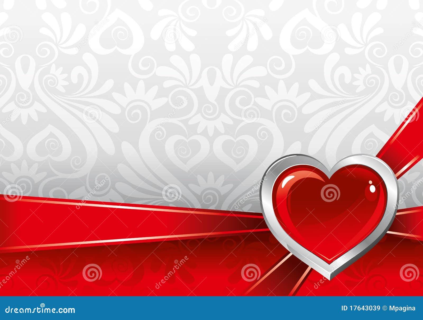Schöner Hintergrund Auf Valentinstag Lizenzfreie Stockbilder