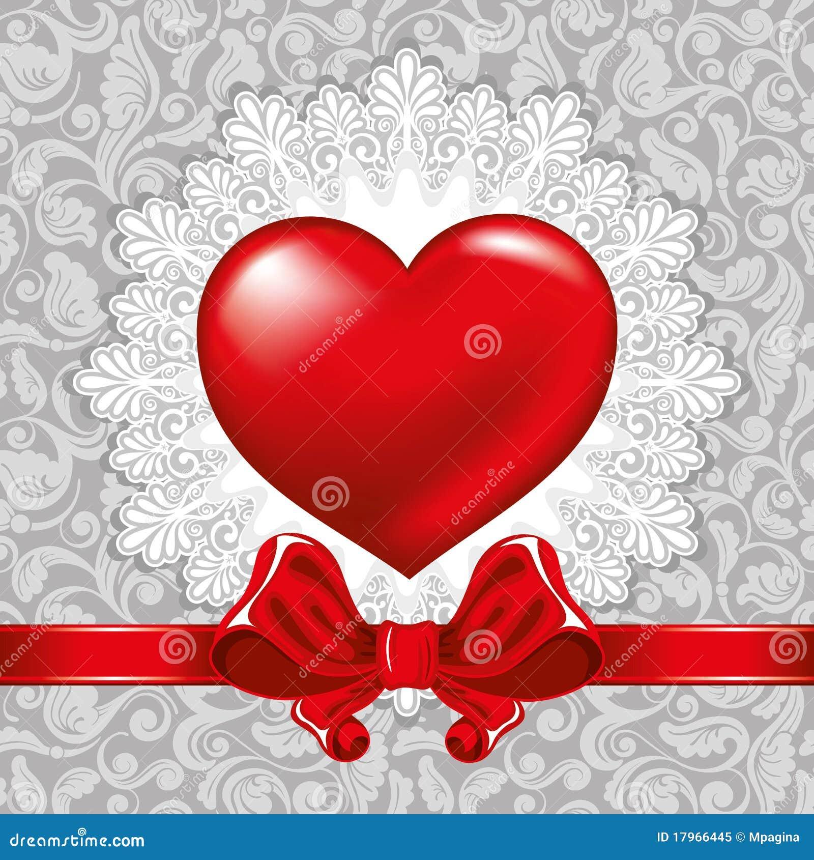 Schöner Hintergrund Auf Valentinstag Mit Verzierungen Und Innerem.