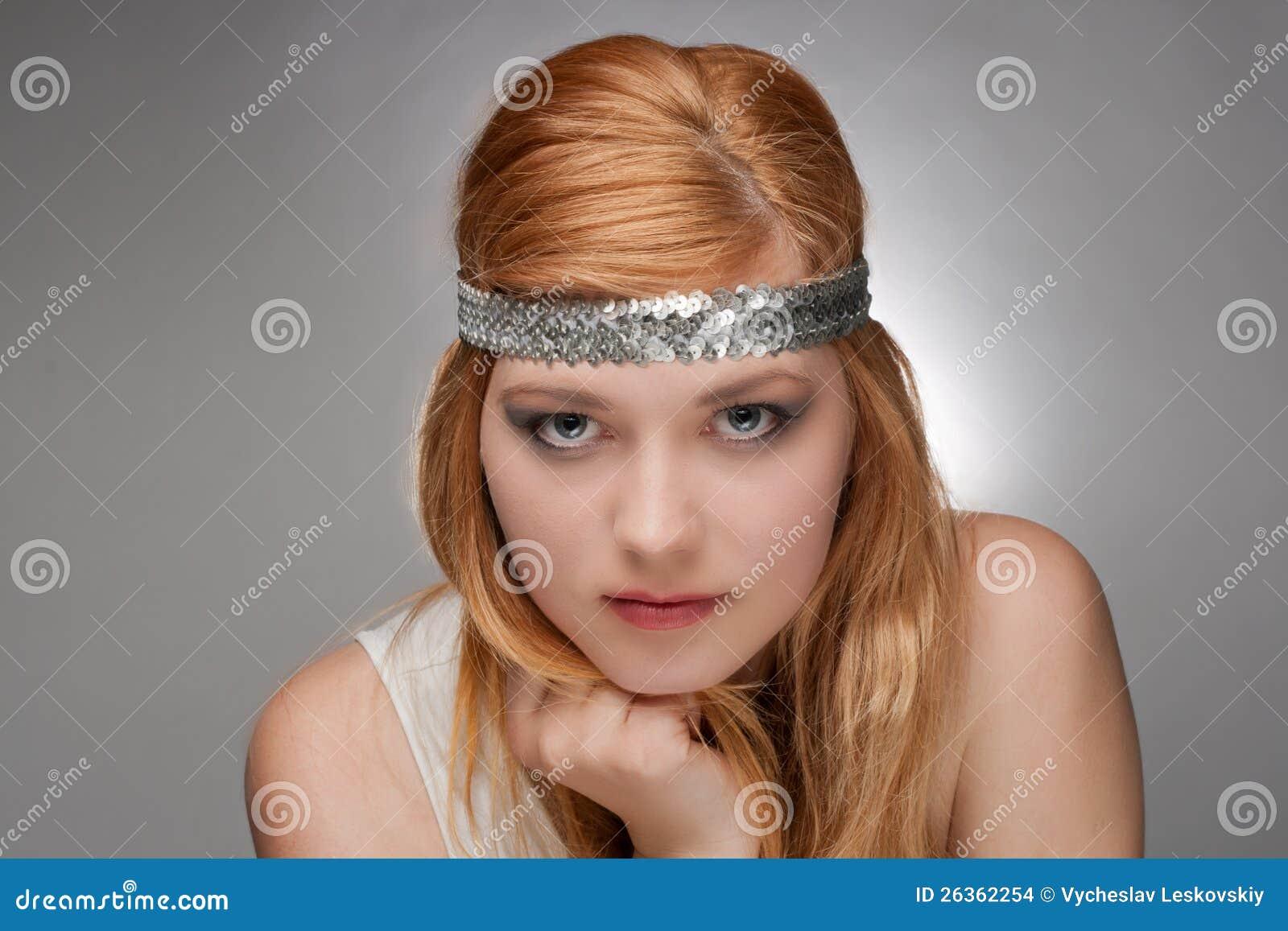 Schöner junge Frau Hippie