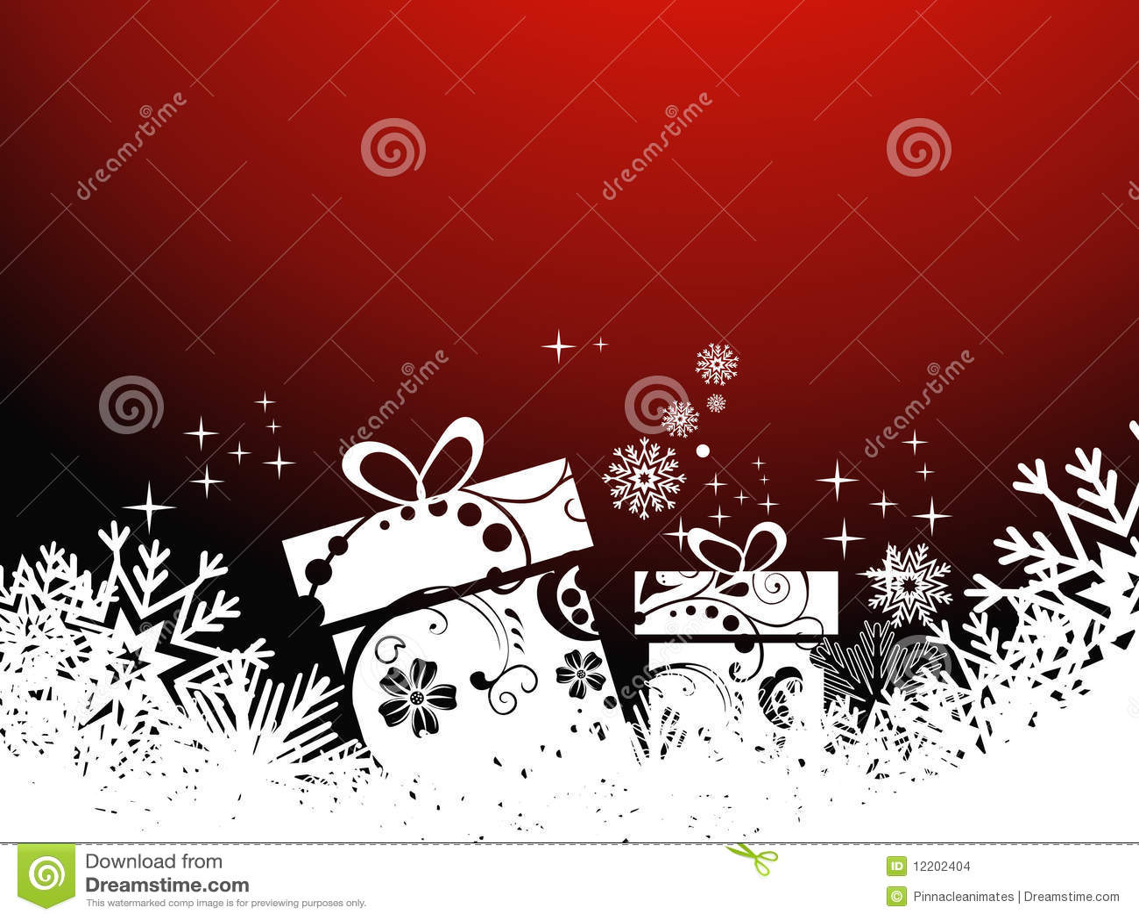 Schöner künstlerischer Hintergrund des Weihnachtsgeschenks