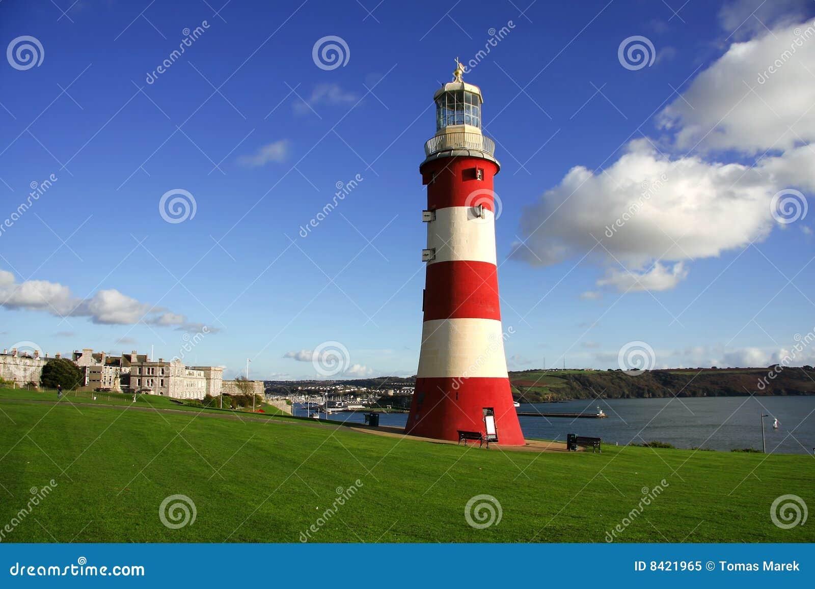 Schöner Leuchtturm in Plymouth, Großbritannien