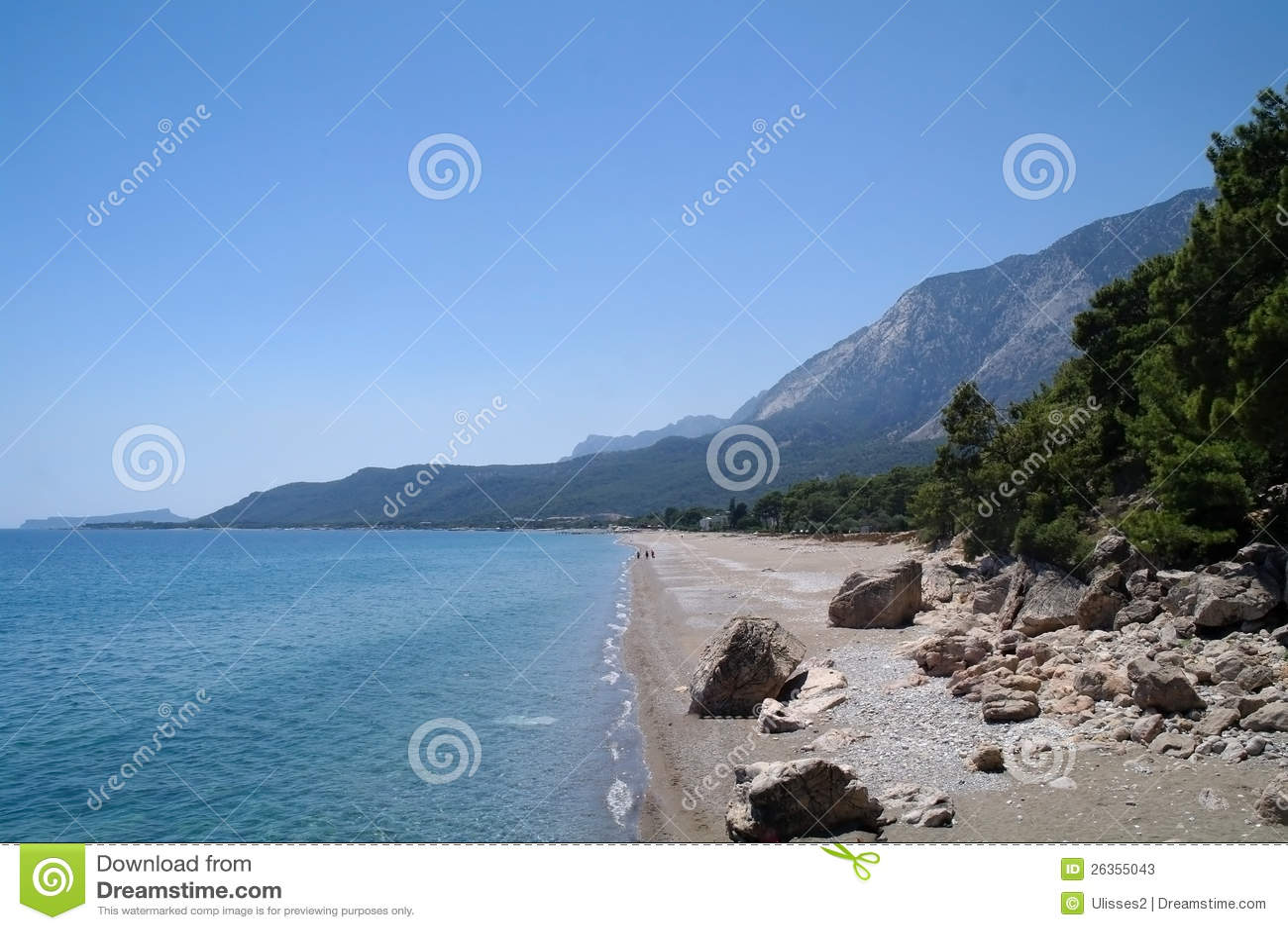 Schöner Meerblick des Mittelmeerwassers