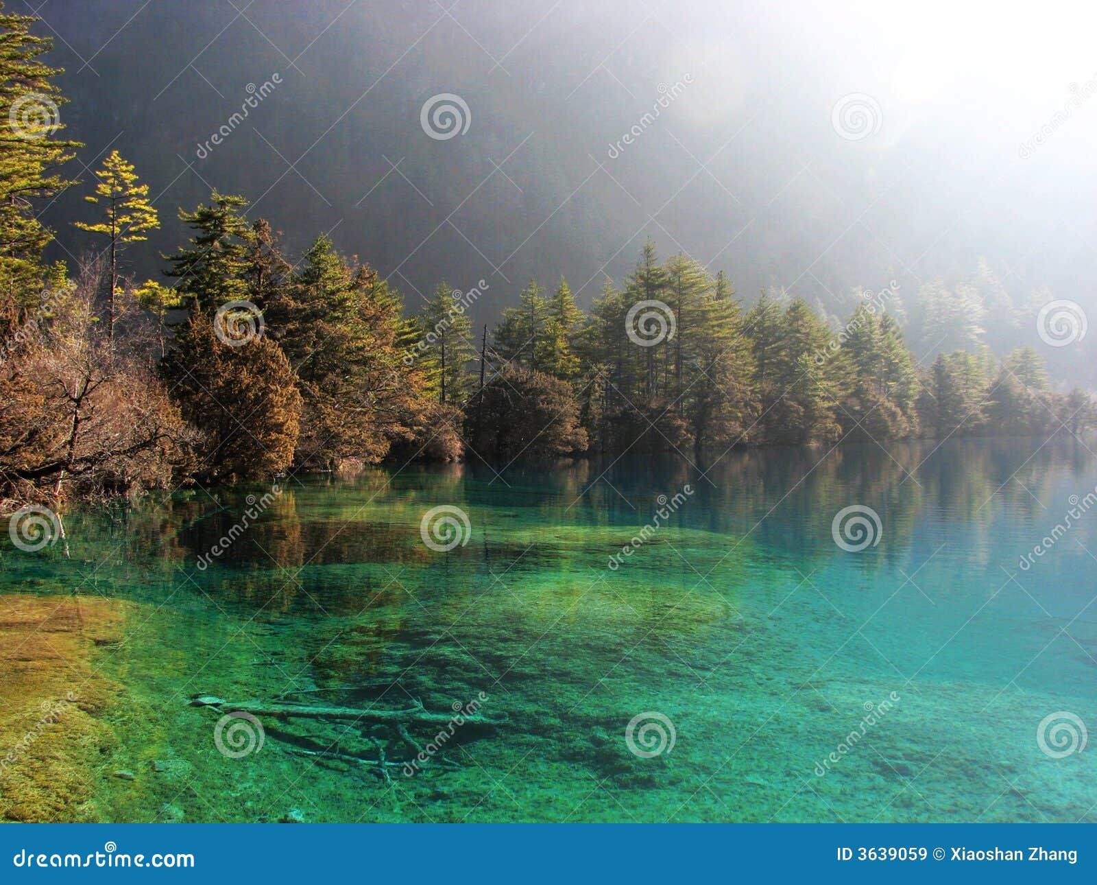 Schöner See in Jiuzhai