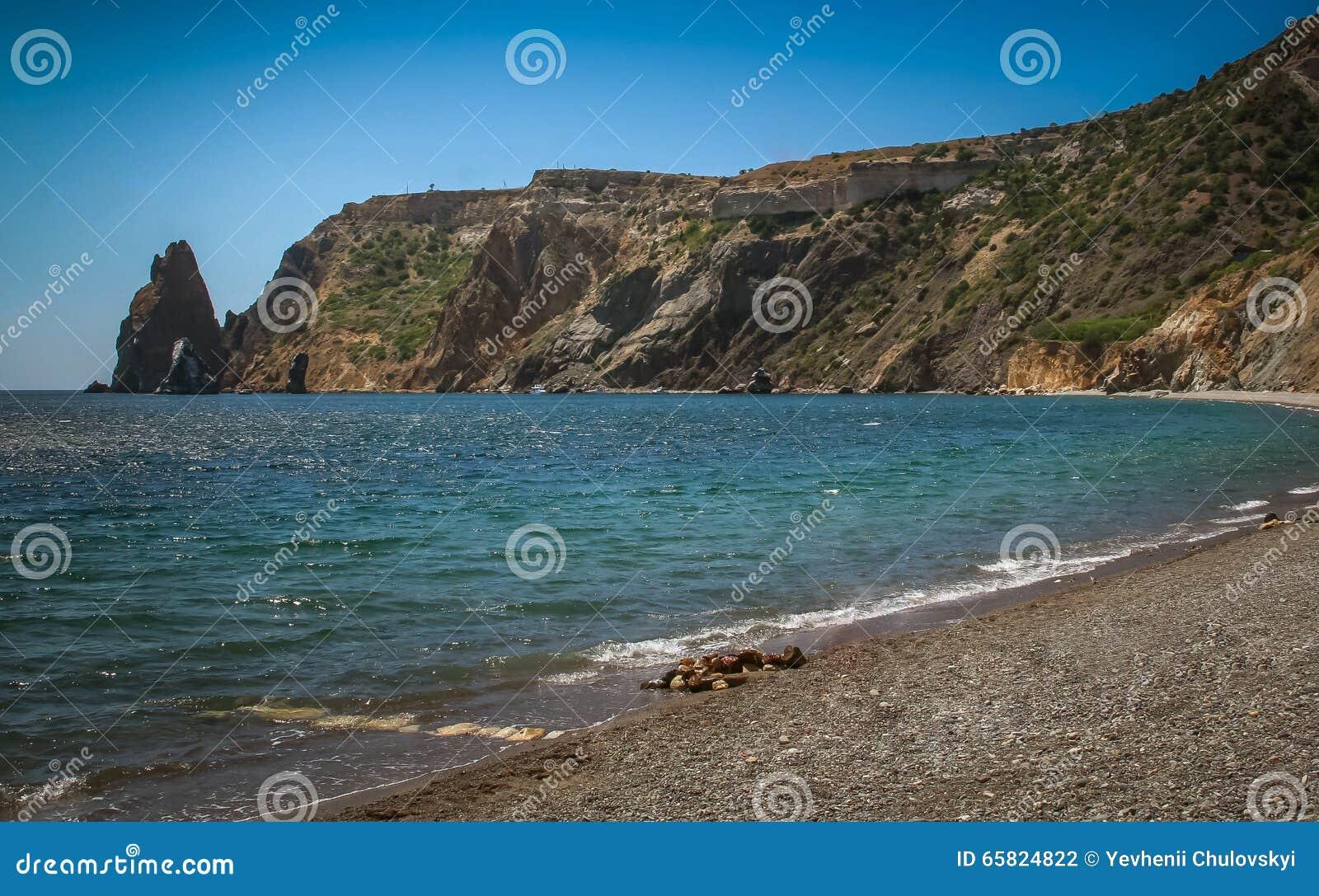 Schöner Sommermeerblick Krim, Kap Fiolent,