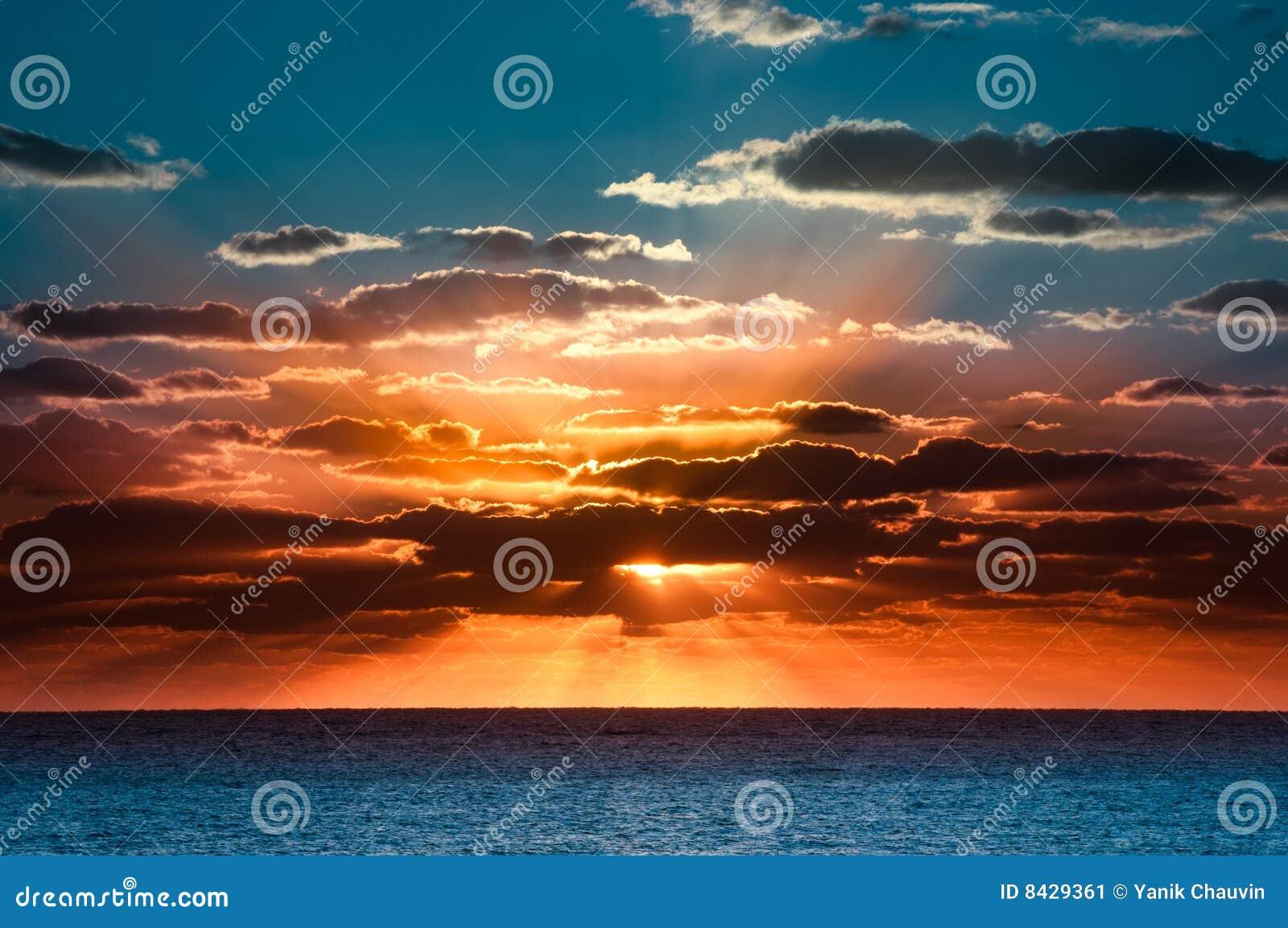 Schöner Sonnenaufgang