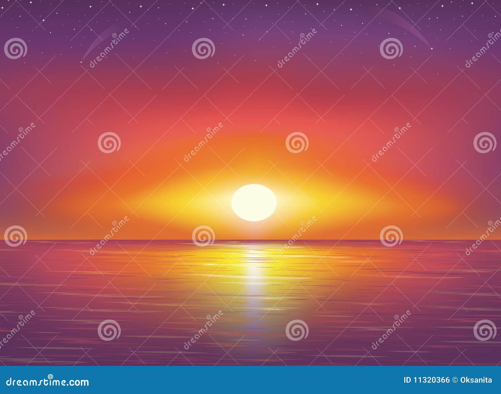 Schöner Sonnenuntergang.