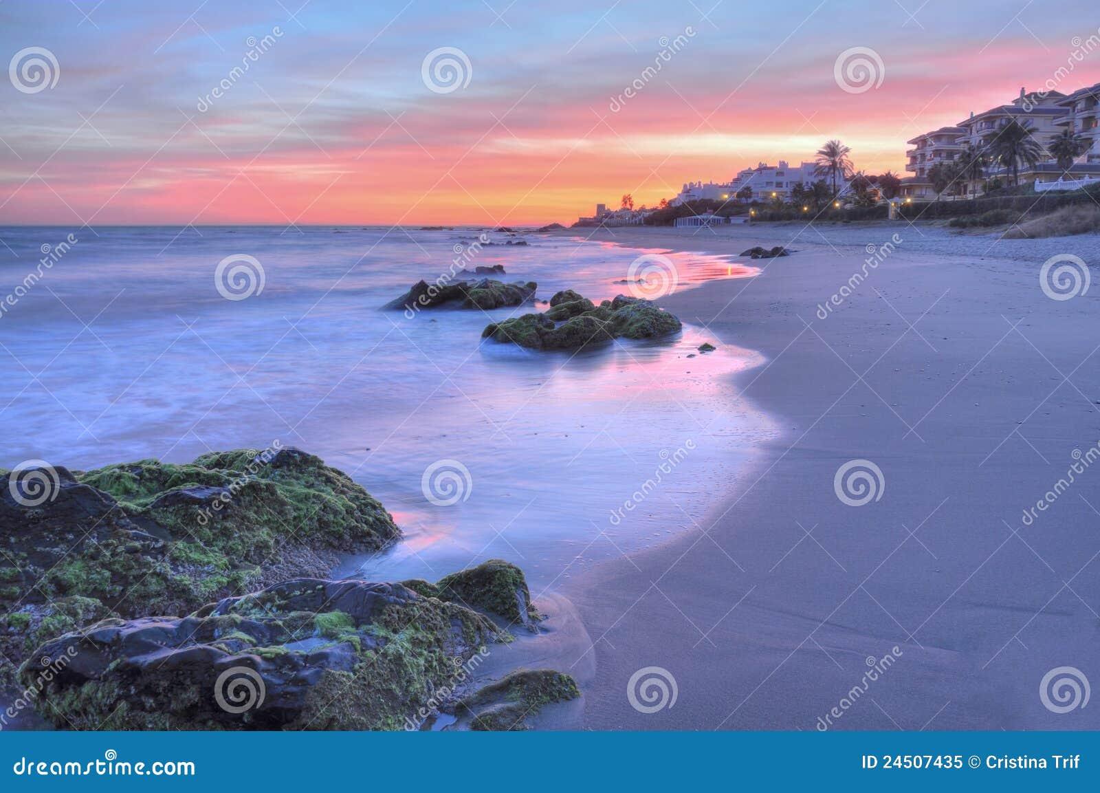 Schöner Sonnenuntergang Costadel Sol
