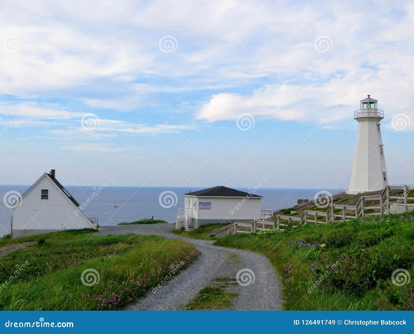 Schöner Tag entlang der Küste von Neufundland das lighth ansehend