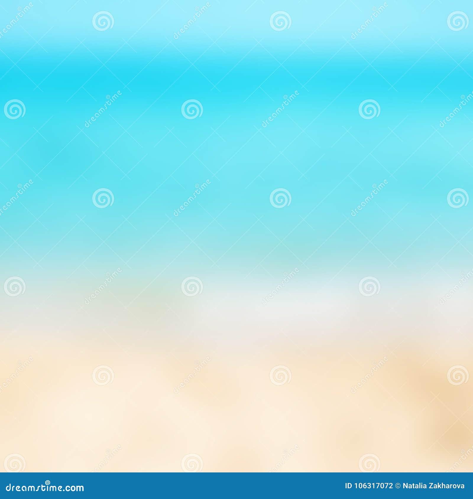 Schöner tropischer Strand und Meer der abstrakten Unschärfe gestalten für BAC landschaftlich