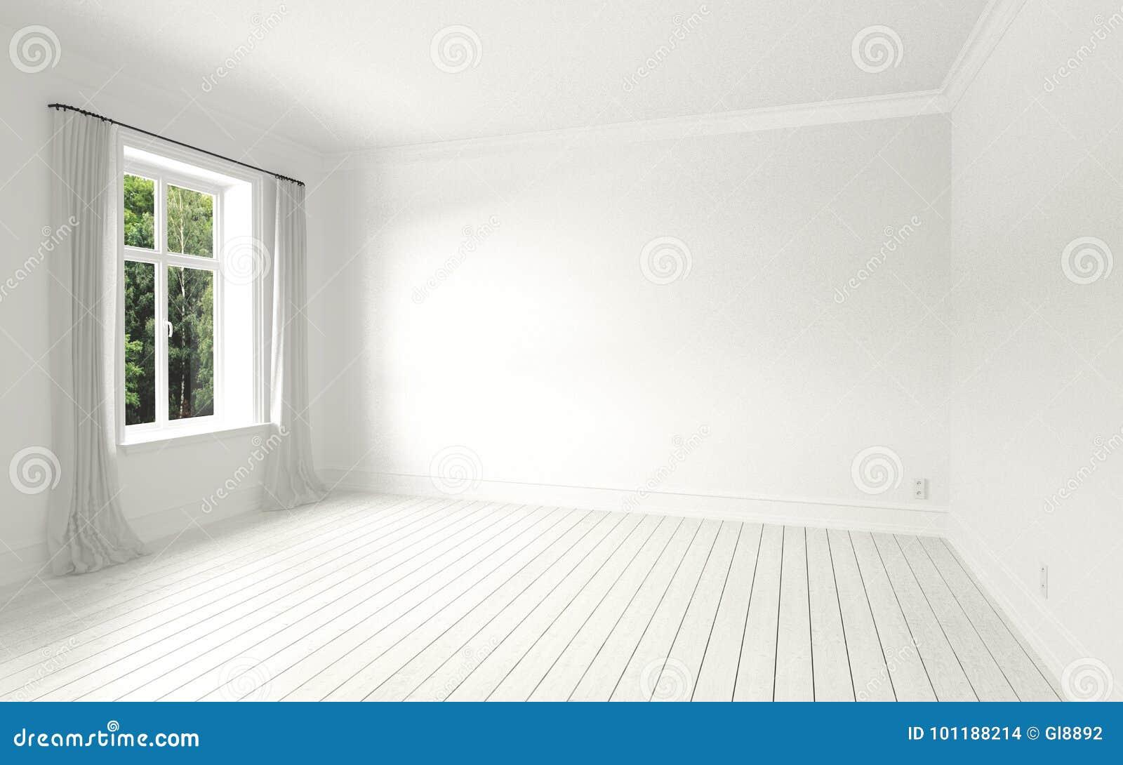 Schöner Weißer Und Heller Raum Stockfoto Bild Von Umgebend Phasen