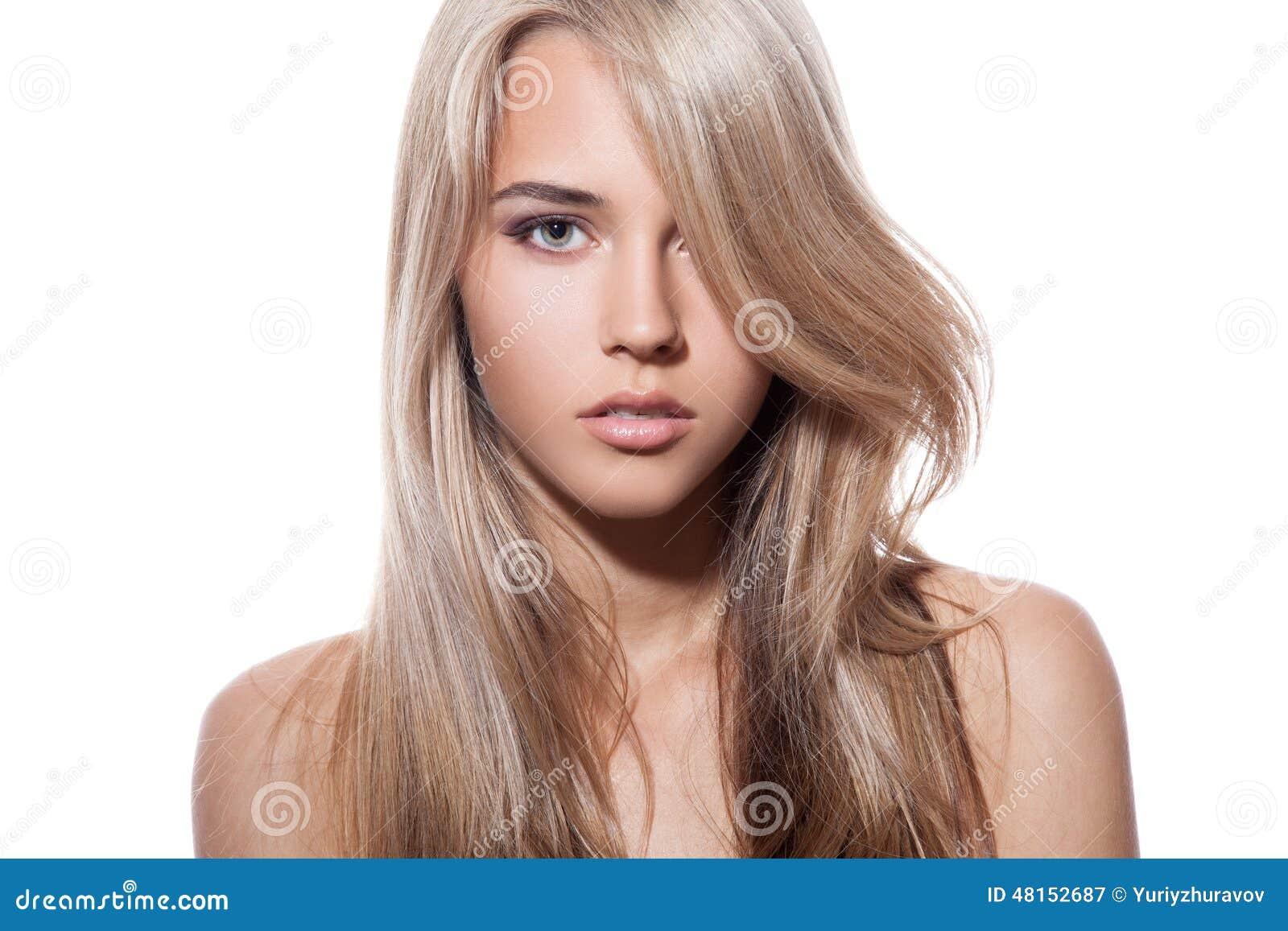 Langes schwarzes und blondes Haar