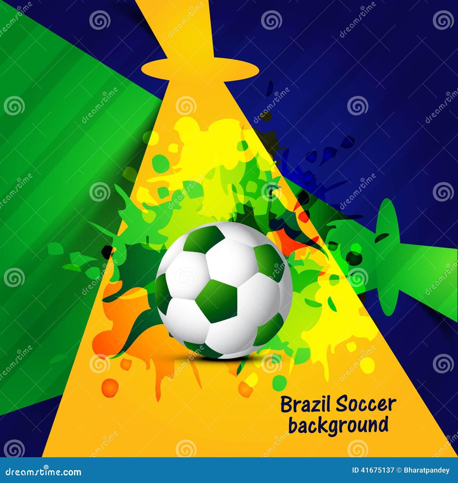 Schönes Brasilien Färbt Kreativen Bunten Fußball Des Konzeptes Stock ...